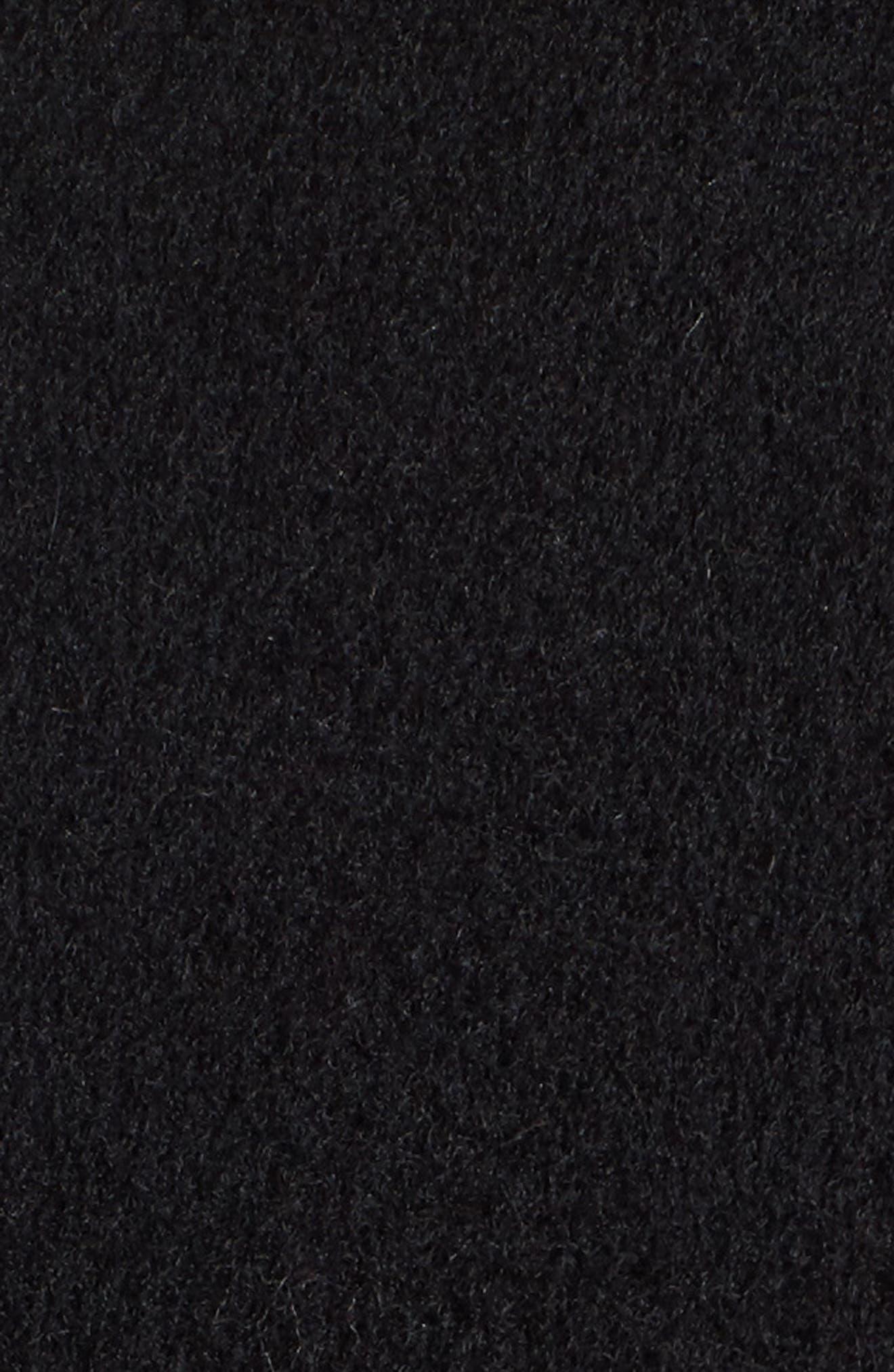 Boiled Wool Blend Wrap Coat,                             Alternate thumbnail 6, color,                             001
