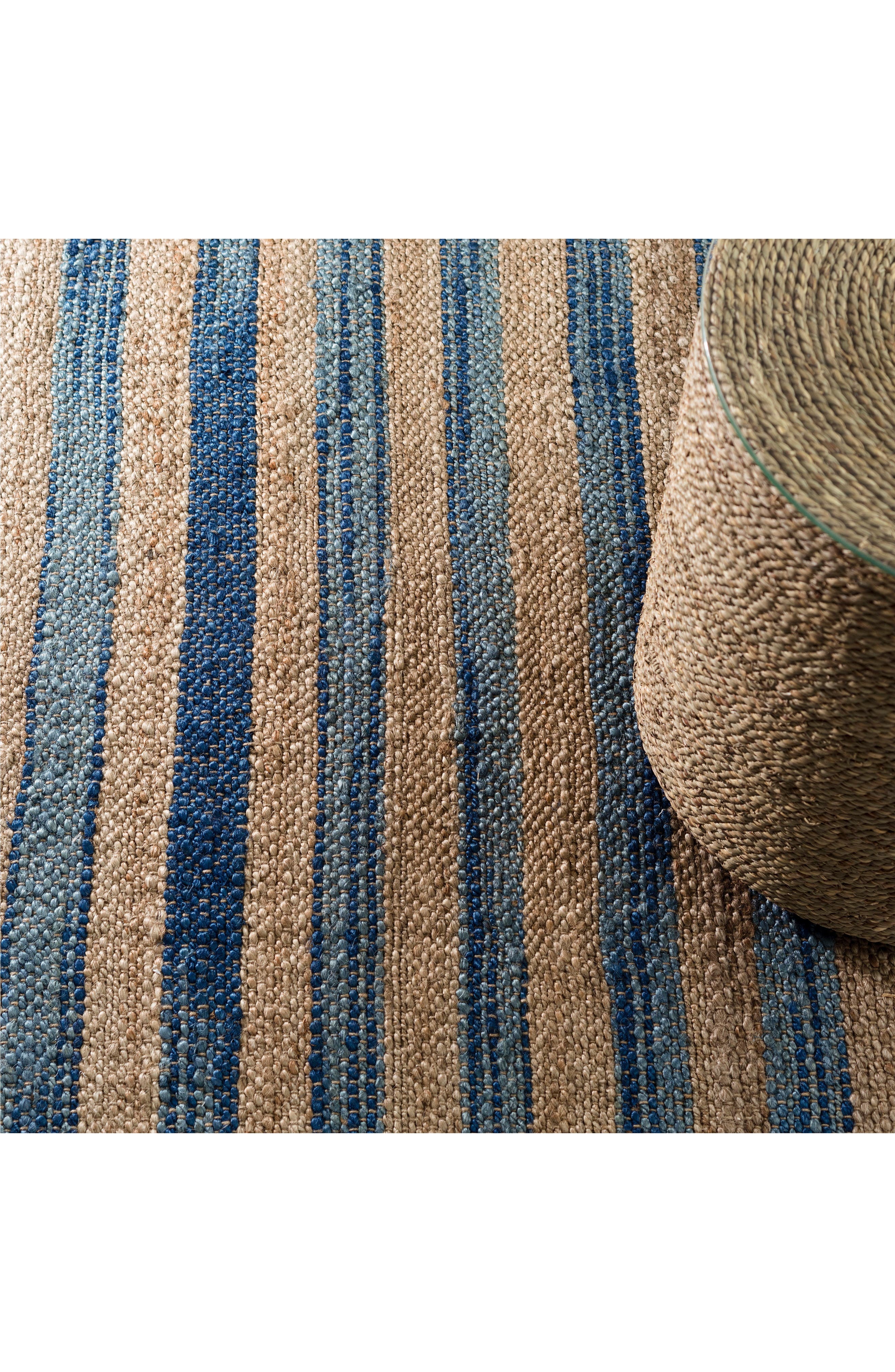 Corfu Woven Wool Rug,                             Alternate thumbnail 2, color,                             BLUE