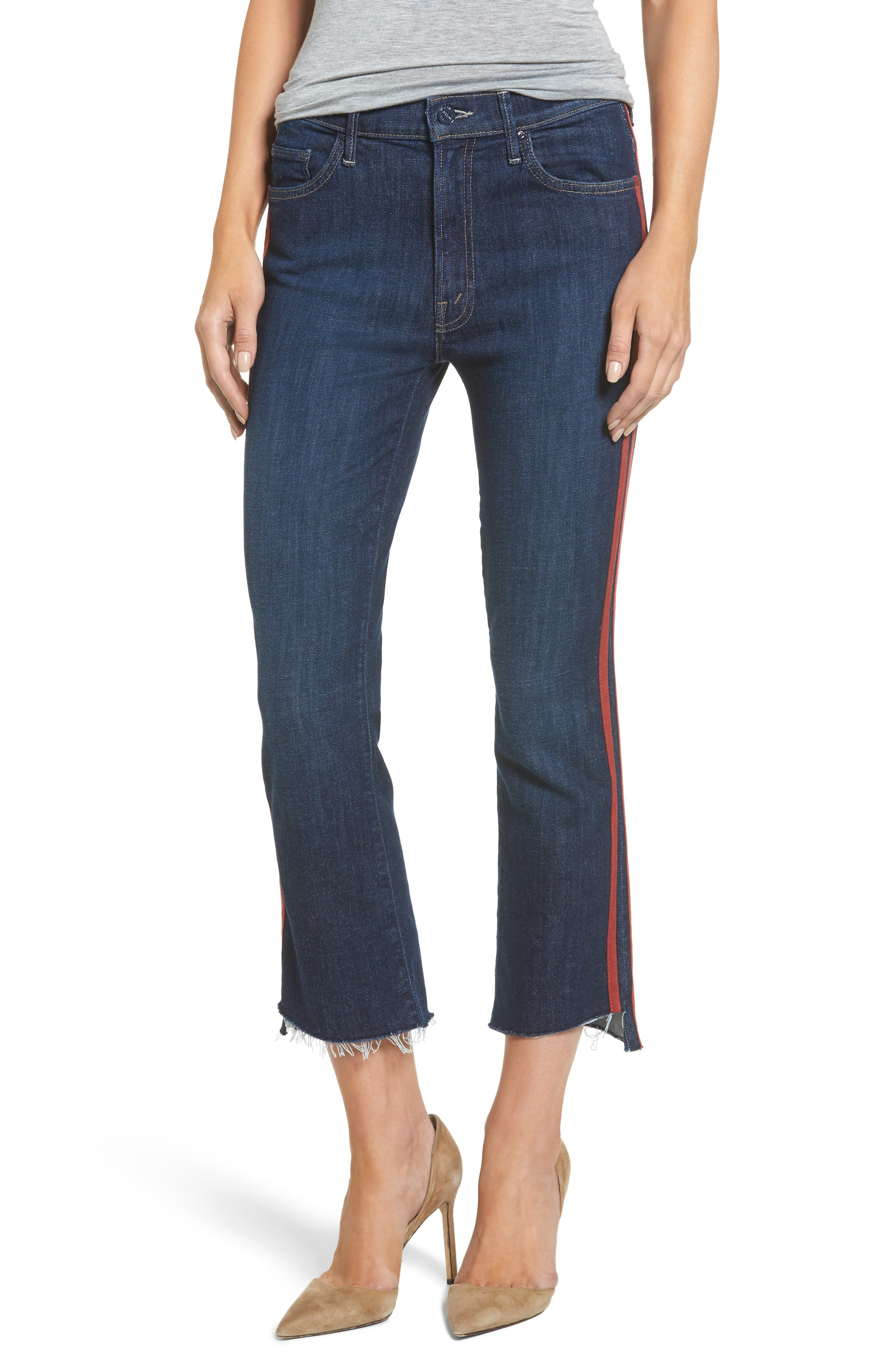 Crop Step Fray Jeans,                             Main thumbnail 1, color,                             402