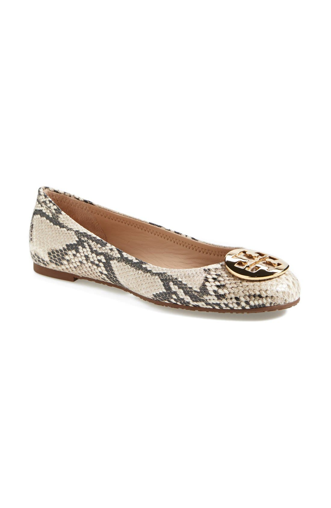 1001f8b16 123456 b7f88 68356; clearance tory burch reva snake embossed leather  ballerina flat women nordstrom 7306a 7ea3a