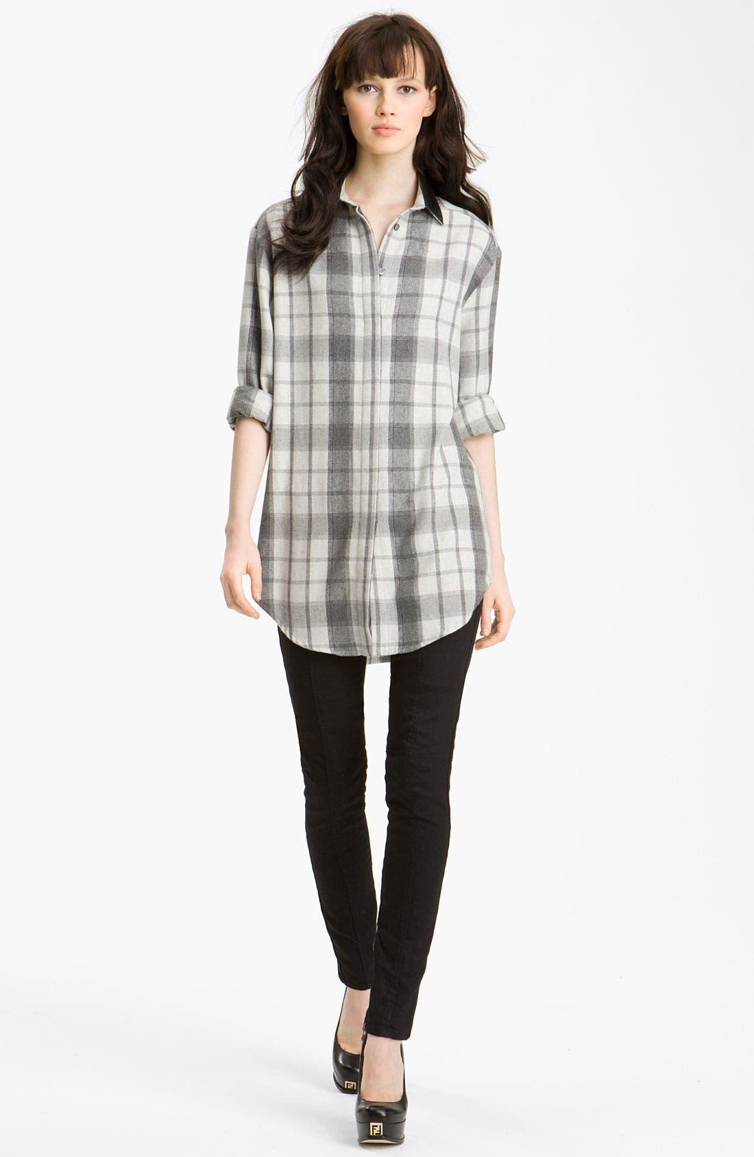 PIERRE BALMAIN Plaid Shirt, Main, color, 101