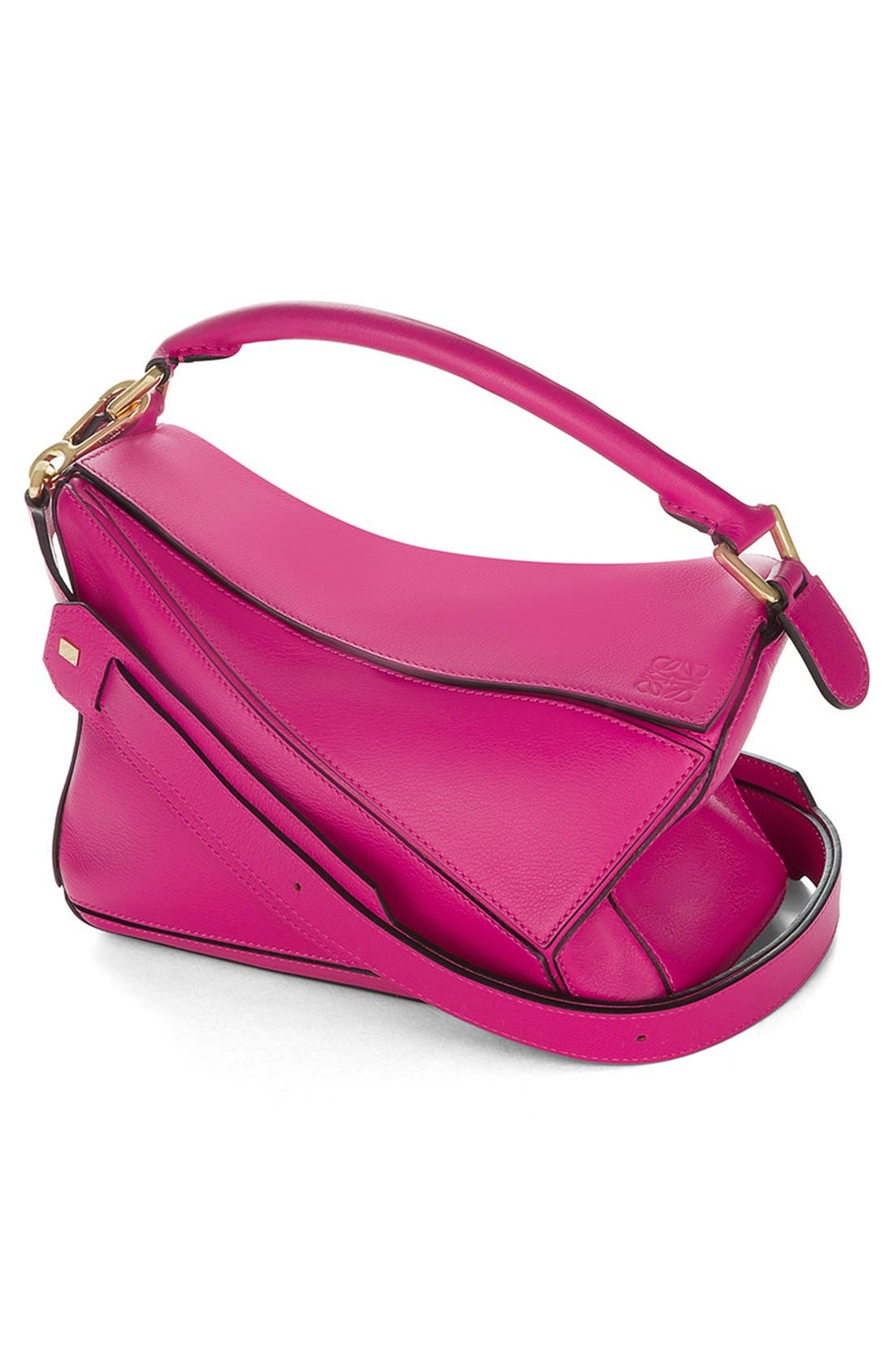 'Small Puzzle' Calfskin Leather Bag,                             Alternate thumbnail 40, color,