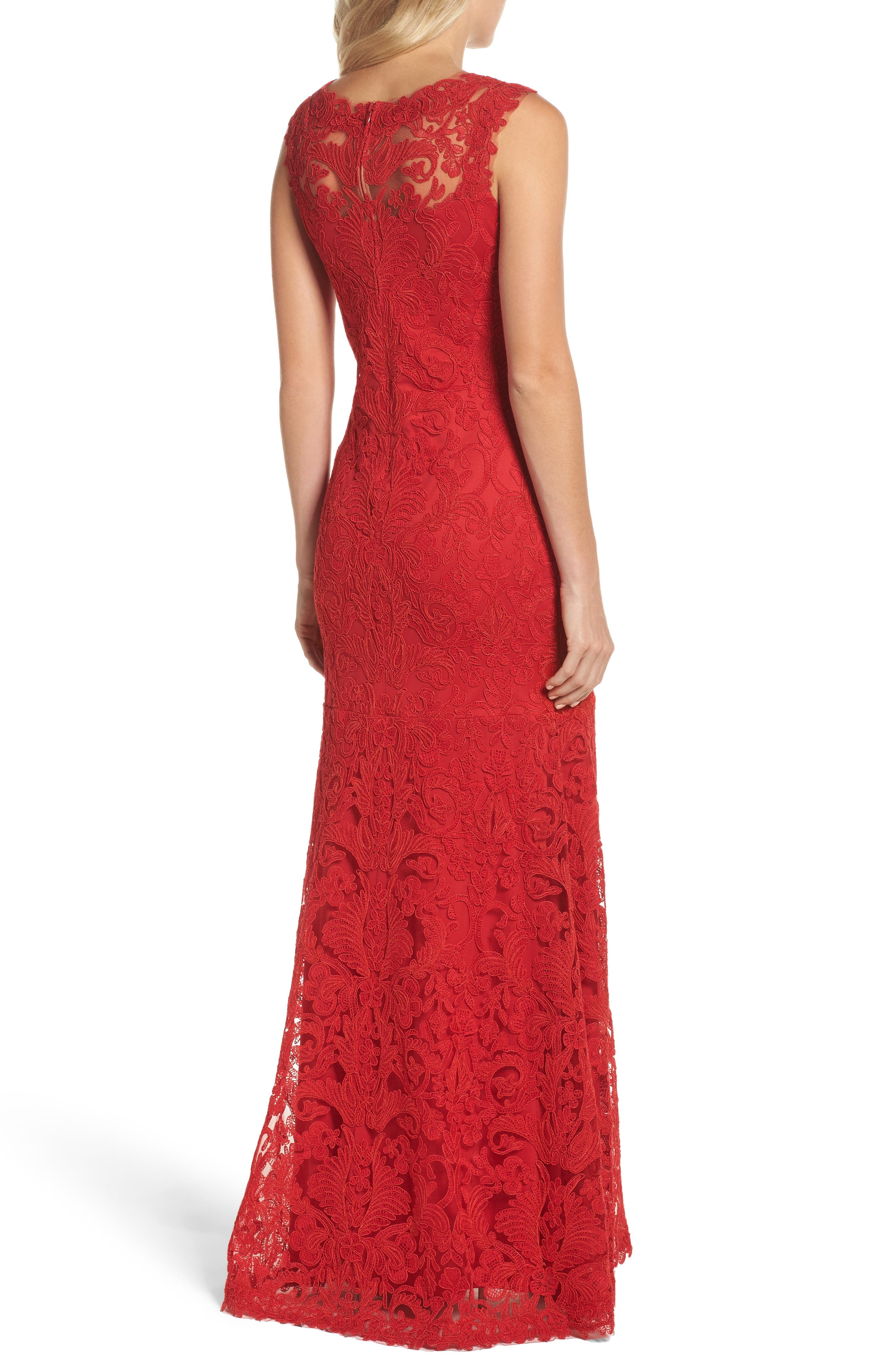 Kelly Embroidered Mermaid Gown,                             Alternate thumbnail 2, color,                             611
