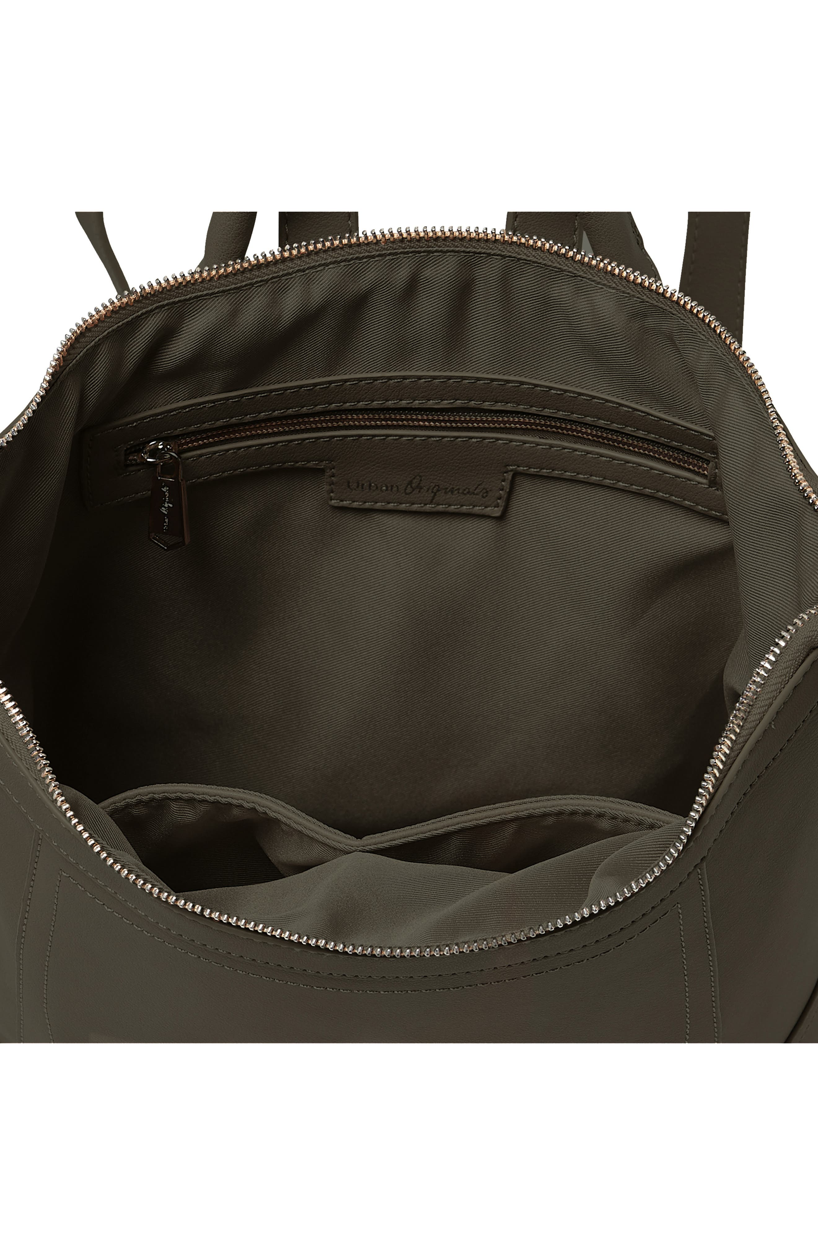 Eternity Vegan Leather Backpack,                             Alternate thumbnail 3, color,                             ARMY GREEN