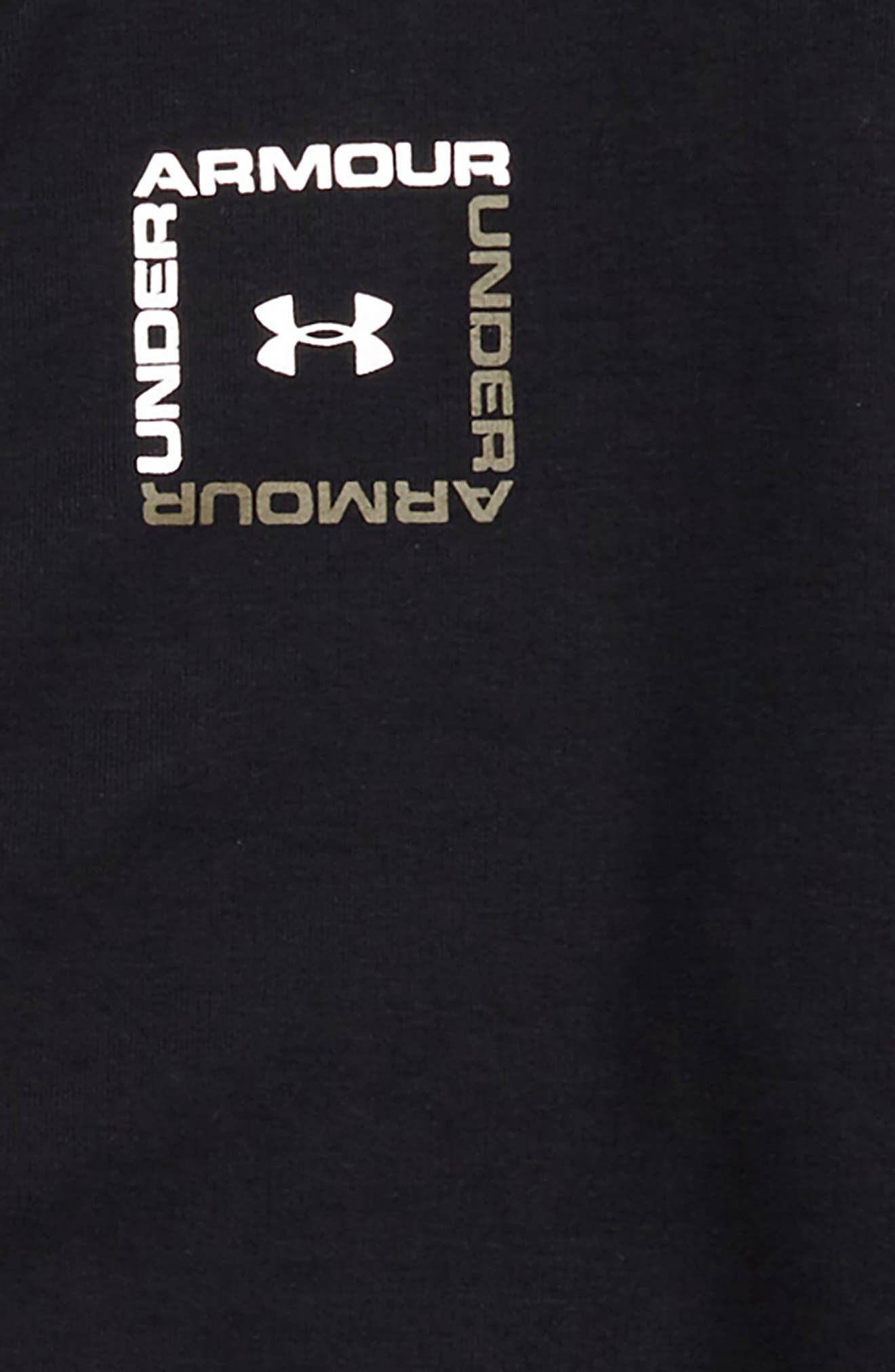UNDER ARMOUR,                             Unstoppable Double Knit Zip Hoodie,                             Alternate thumbnail 2, color,                             BLACK/ WHITE
