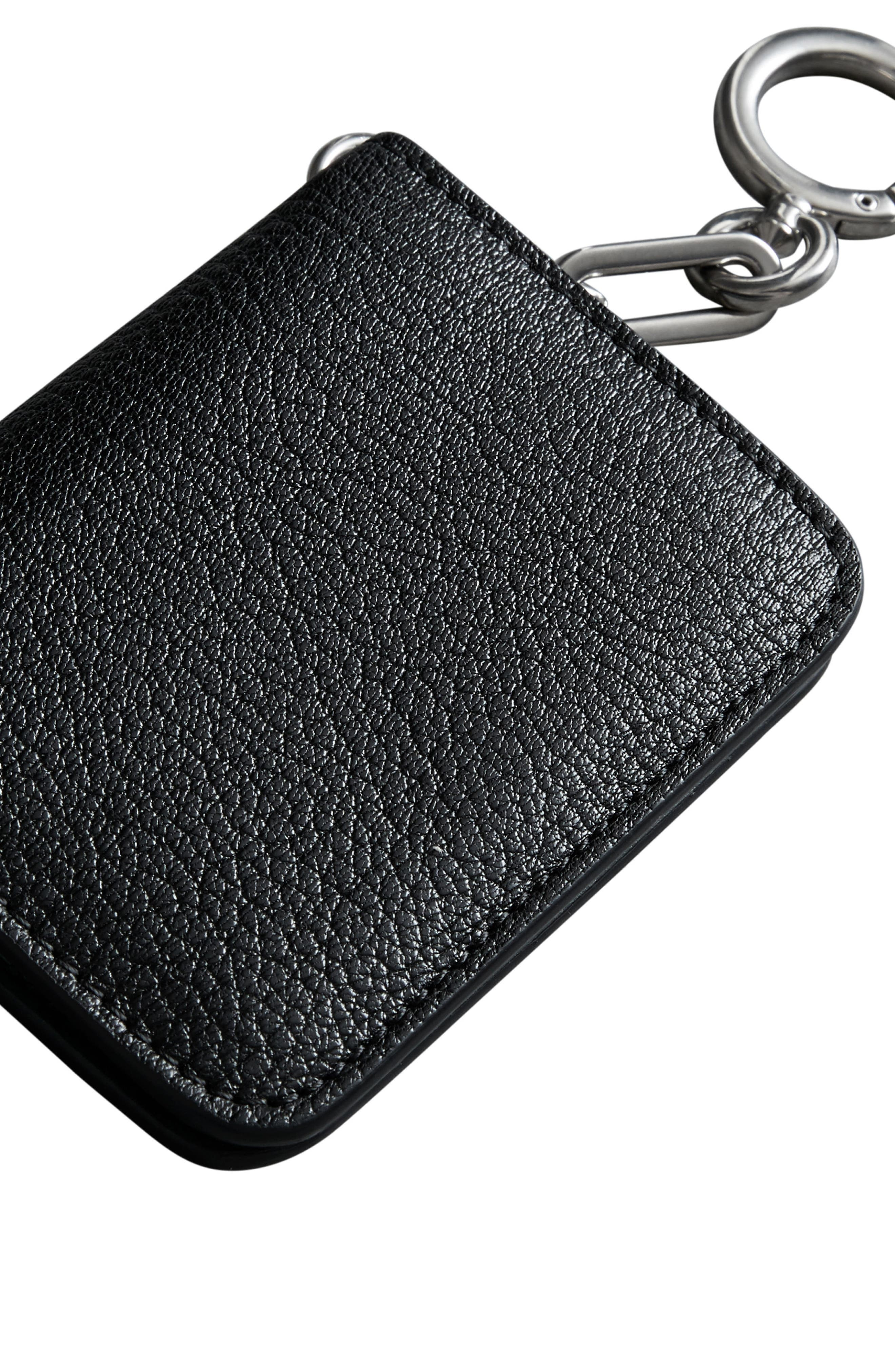 Camberwell Leather ID & Card Case,                             Alternate thumbnail 6, color,                             BLACK