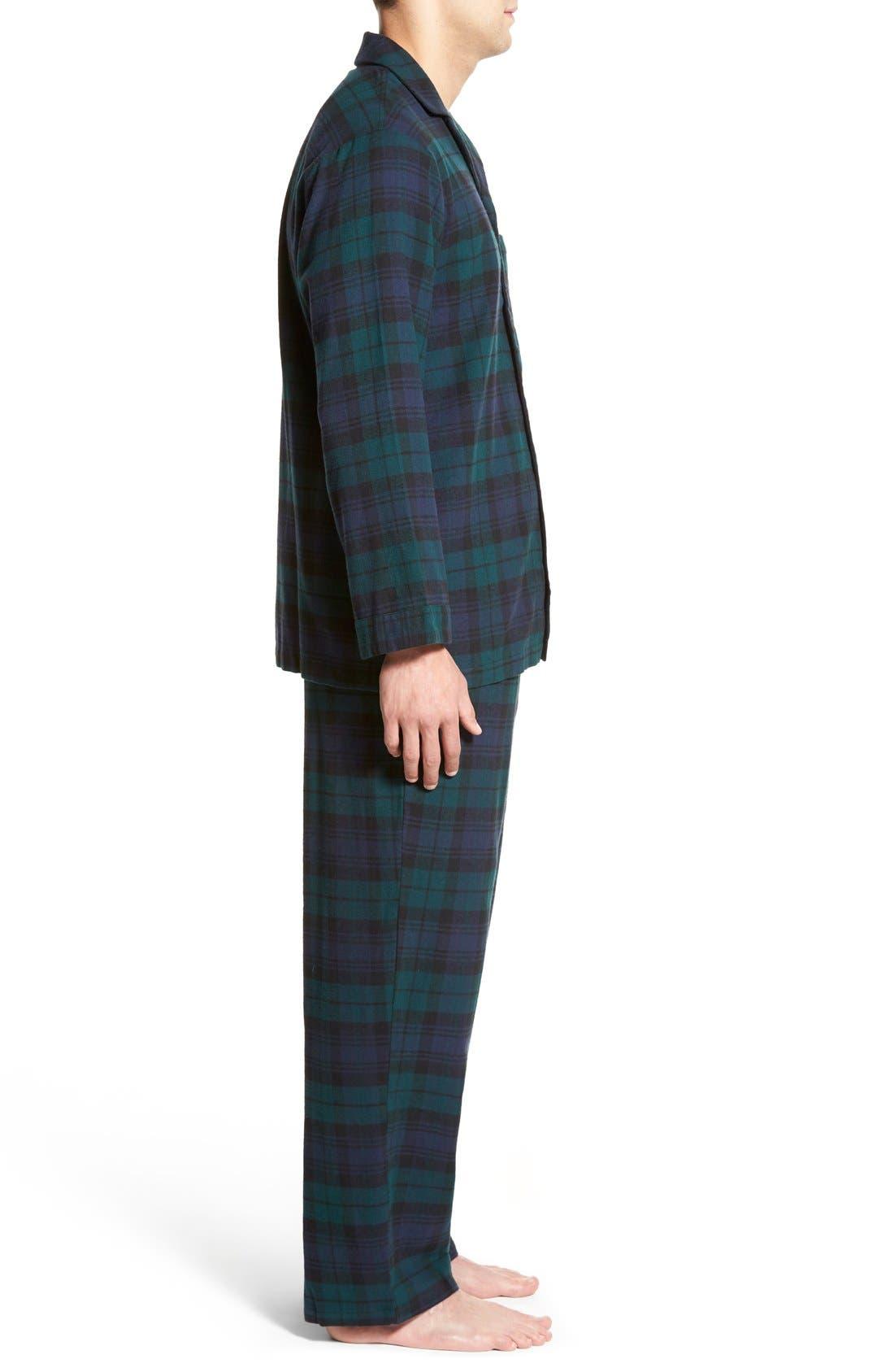 '824' Flannel Pajama Set,                             Alternate thumbnail 39, color,