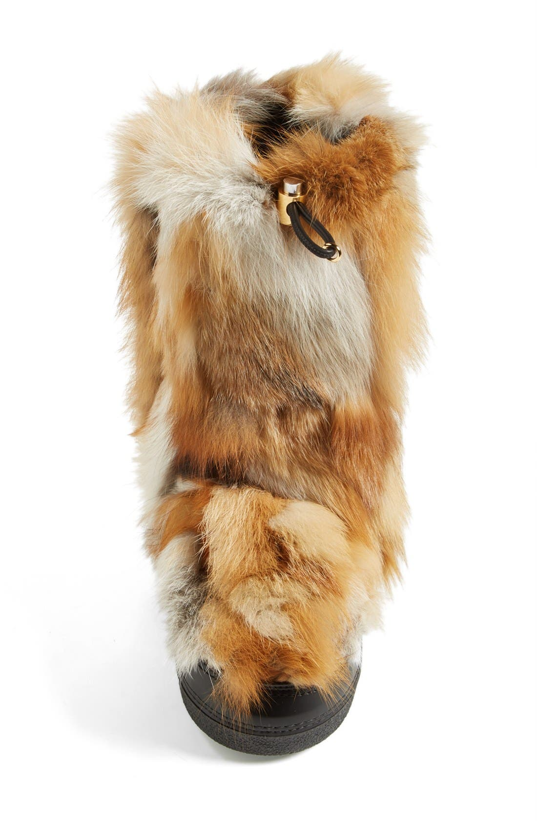 'Danny' Genuine Fox Fur Boot,                             Alternate thumbnail 6, color,                             250