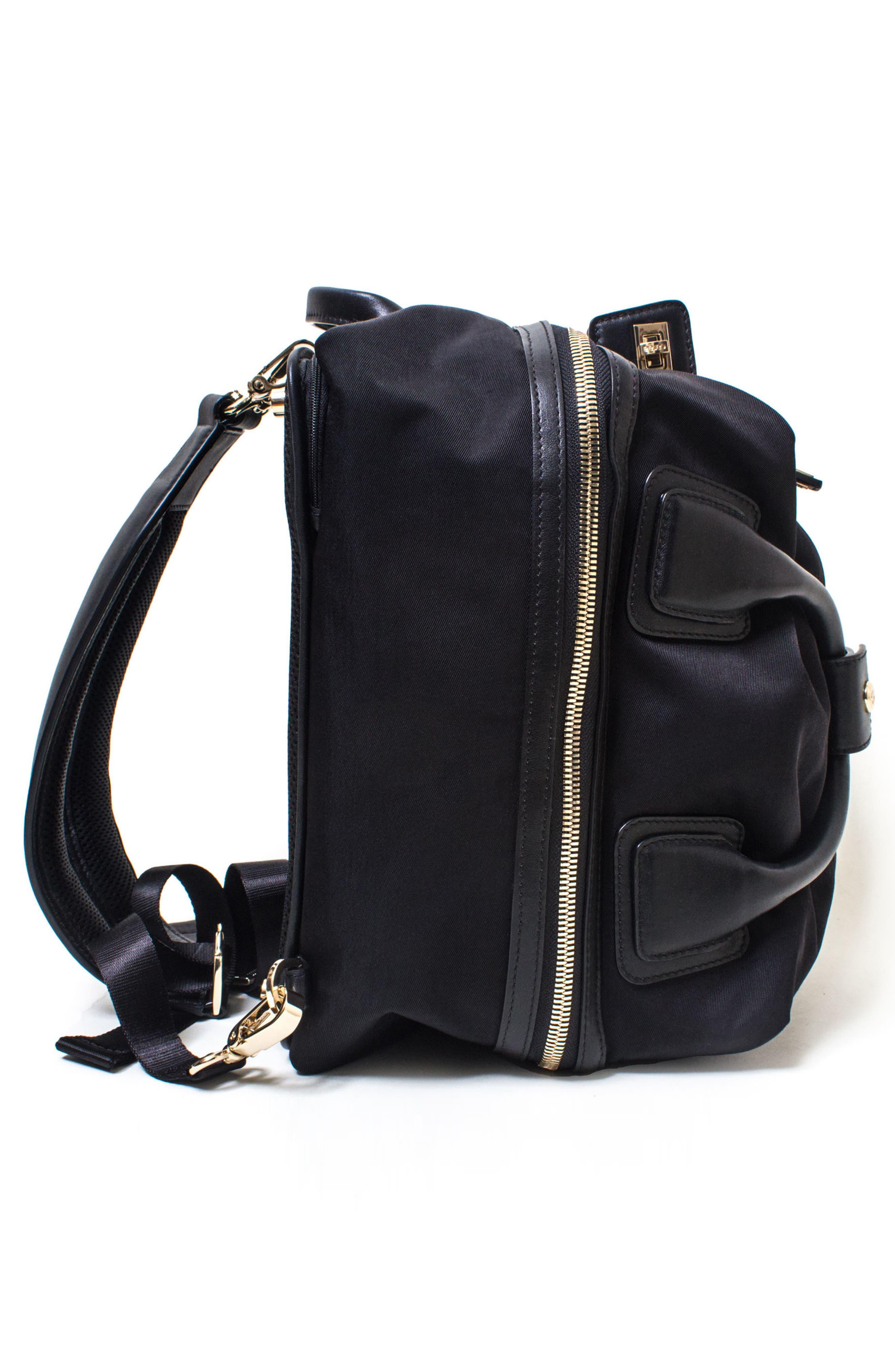 Studio Duffel Backpack,                             Alternate thumbnail 7, color,                             BLACK/ GOLD