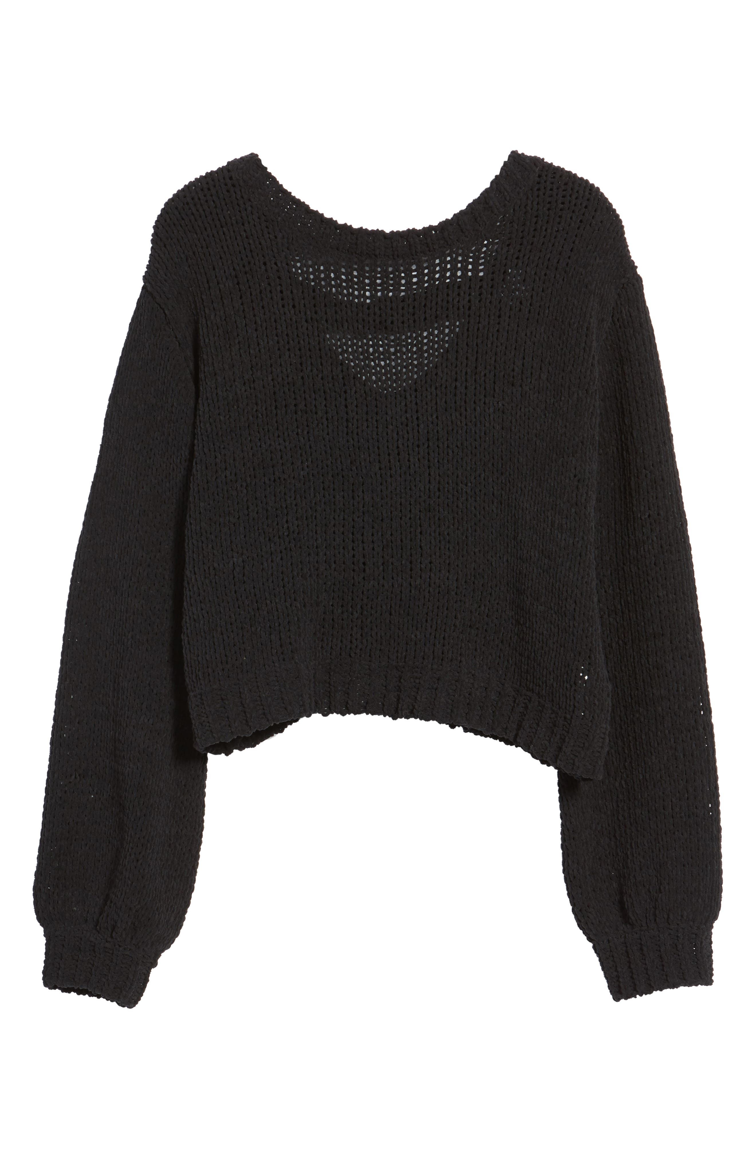 Strappy Sweater,                             Alternate thumbnail 7, color,                             001