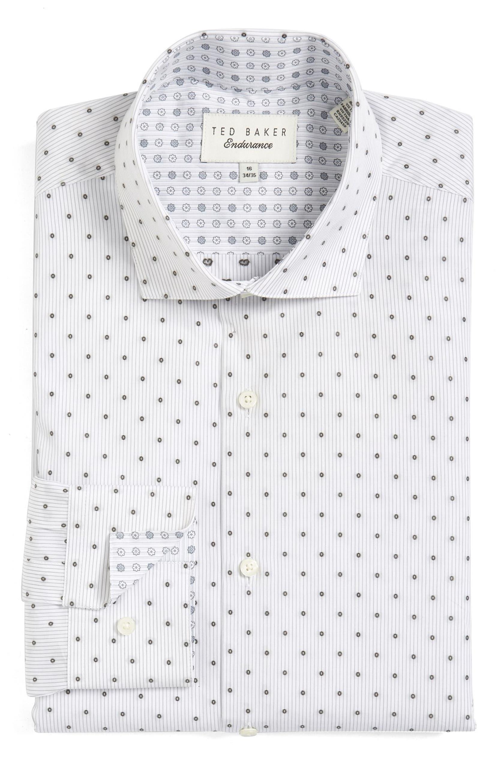 34715188d4d01 Ted Baker London  Kaylen  Trim Fit Dot Dress Shirt