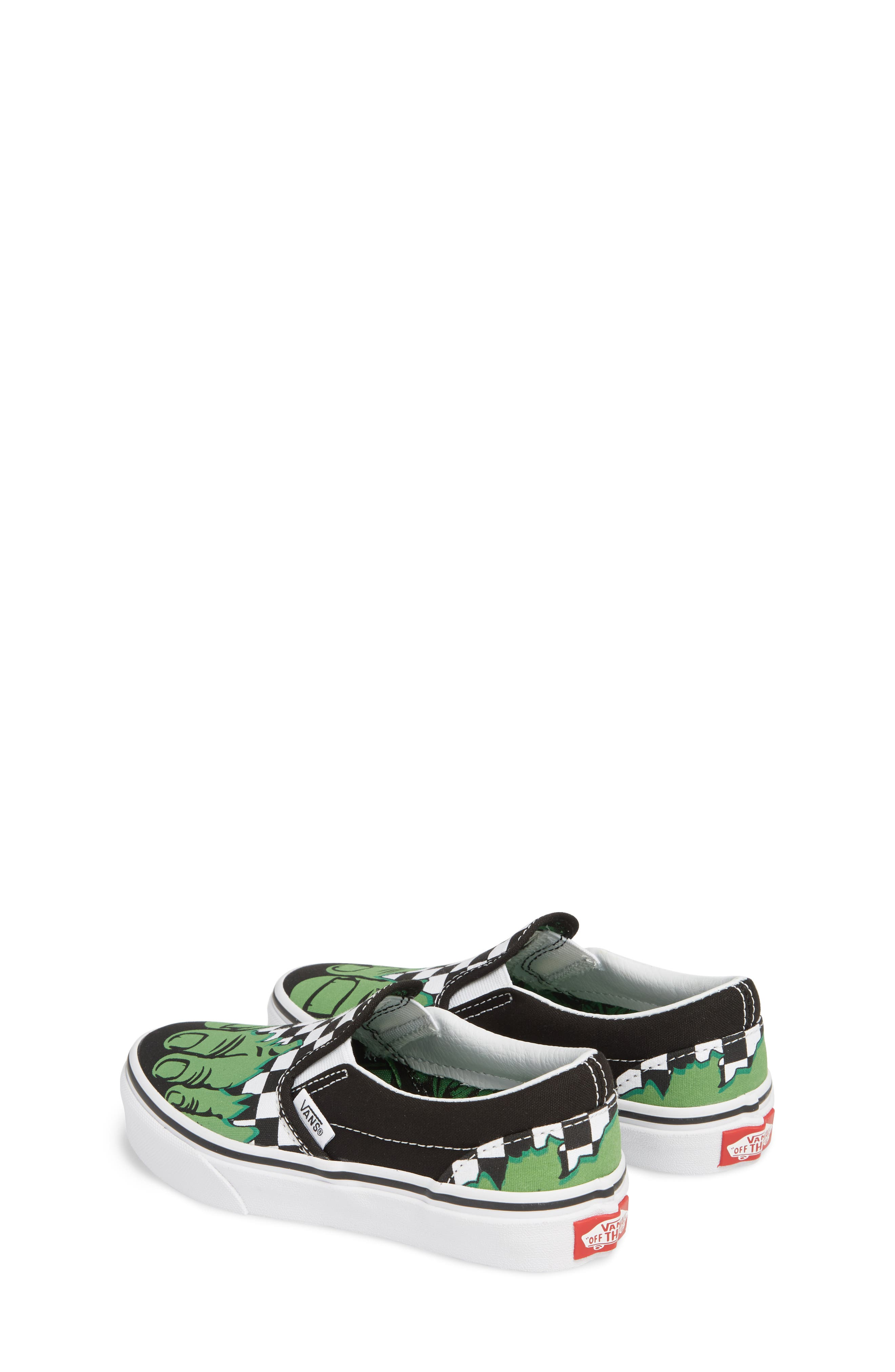 x Marvel<sup>®</sup> Hulk Checkerboard Slip-On Sneaker,                             Alternate thumbnail 3, color,                             310