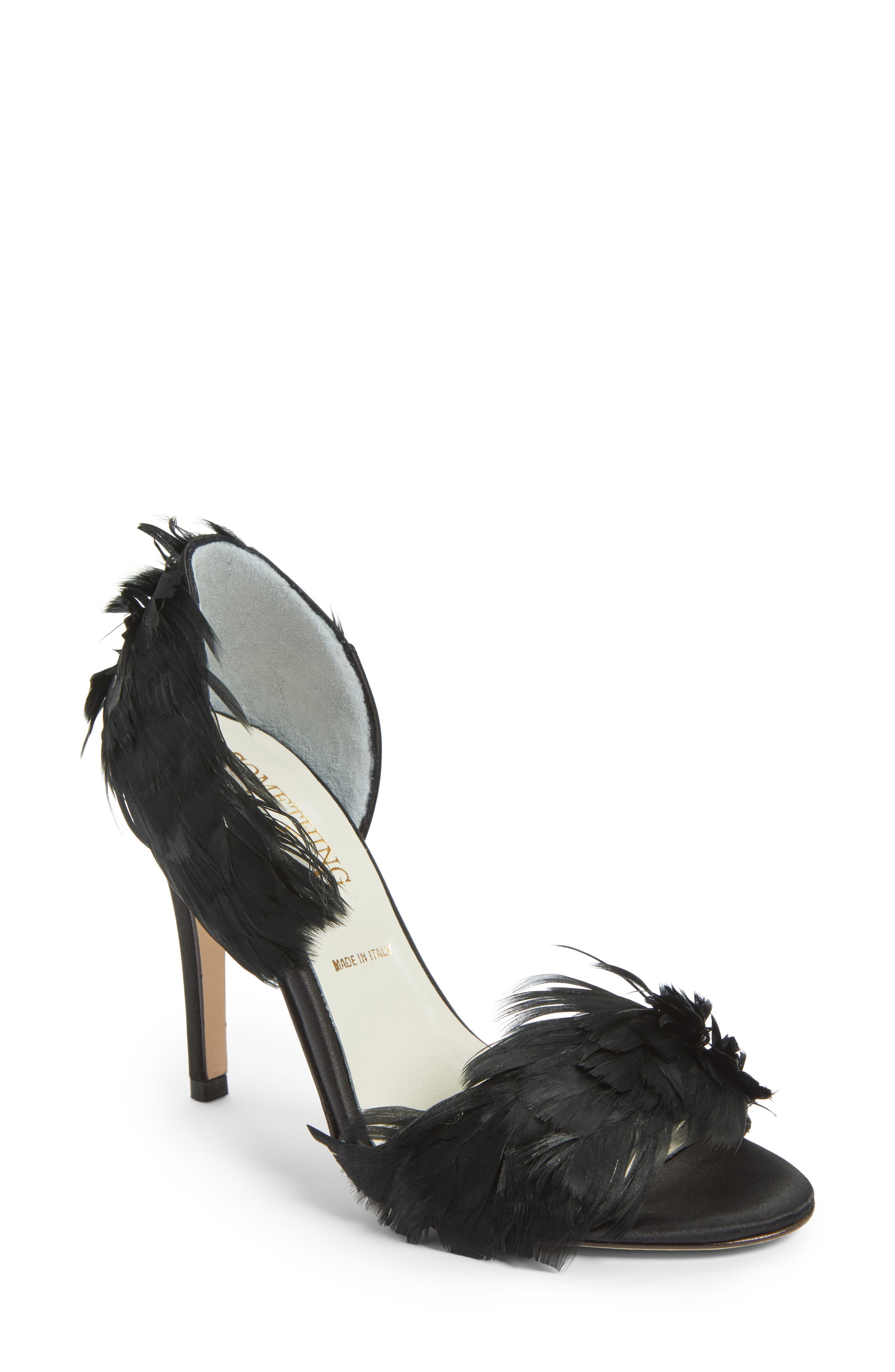 Hammond dOrsay Sandal,                         Main,                         color, BLACK SATIN
