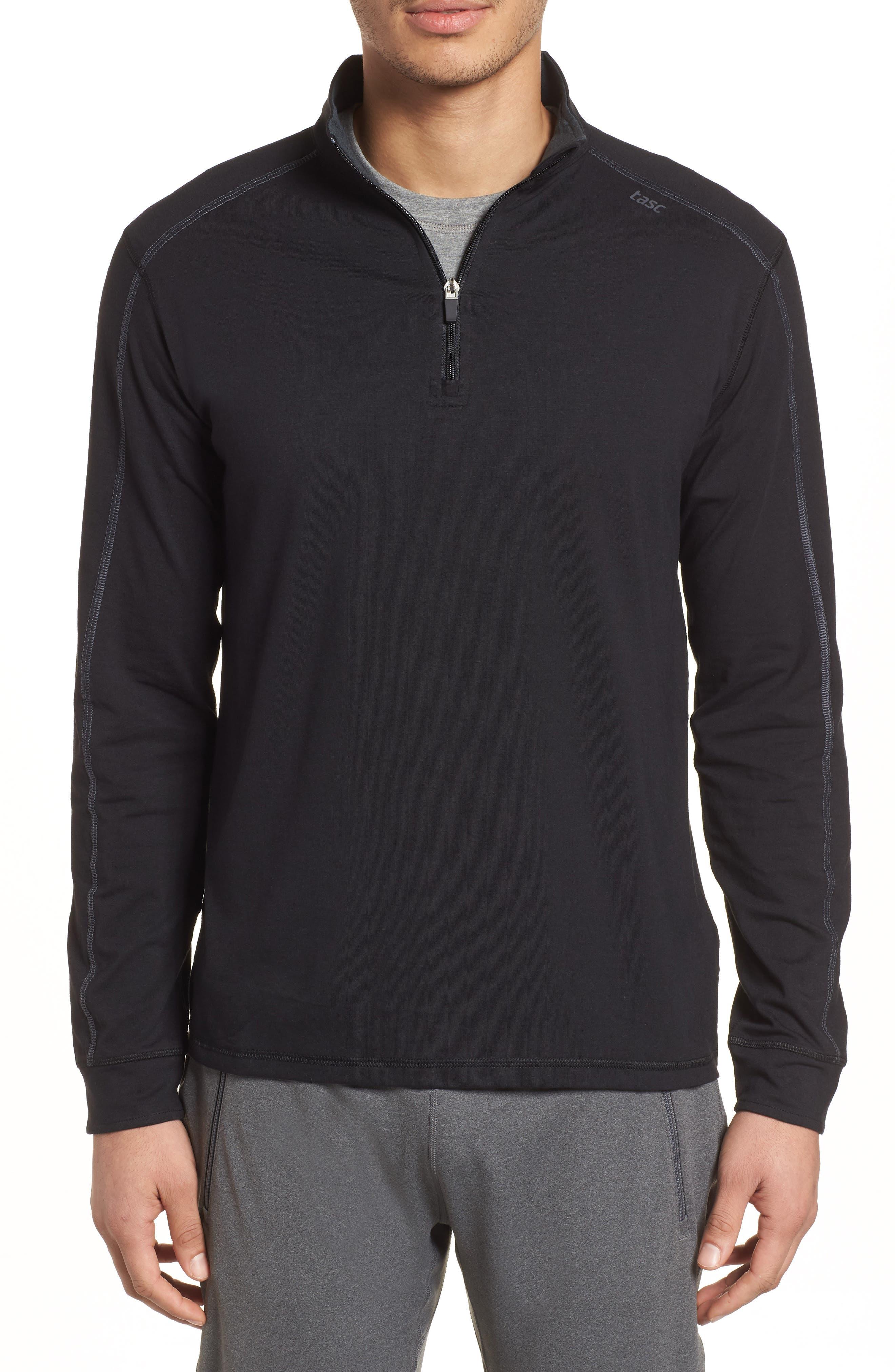 Carrollton Quarter Zip Sweatshirt,                         Main,                         color, BLACK/ GUNMETAL