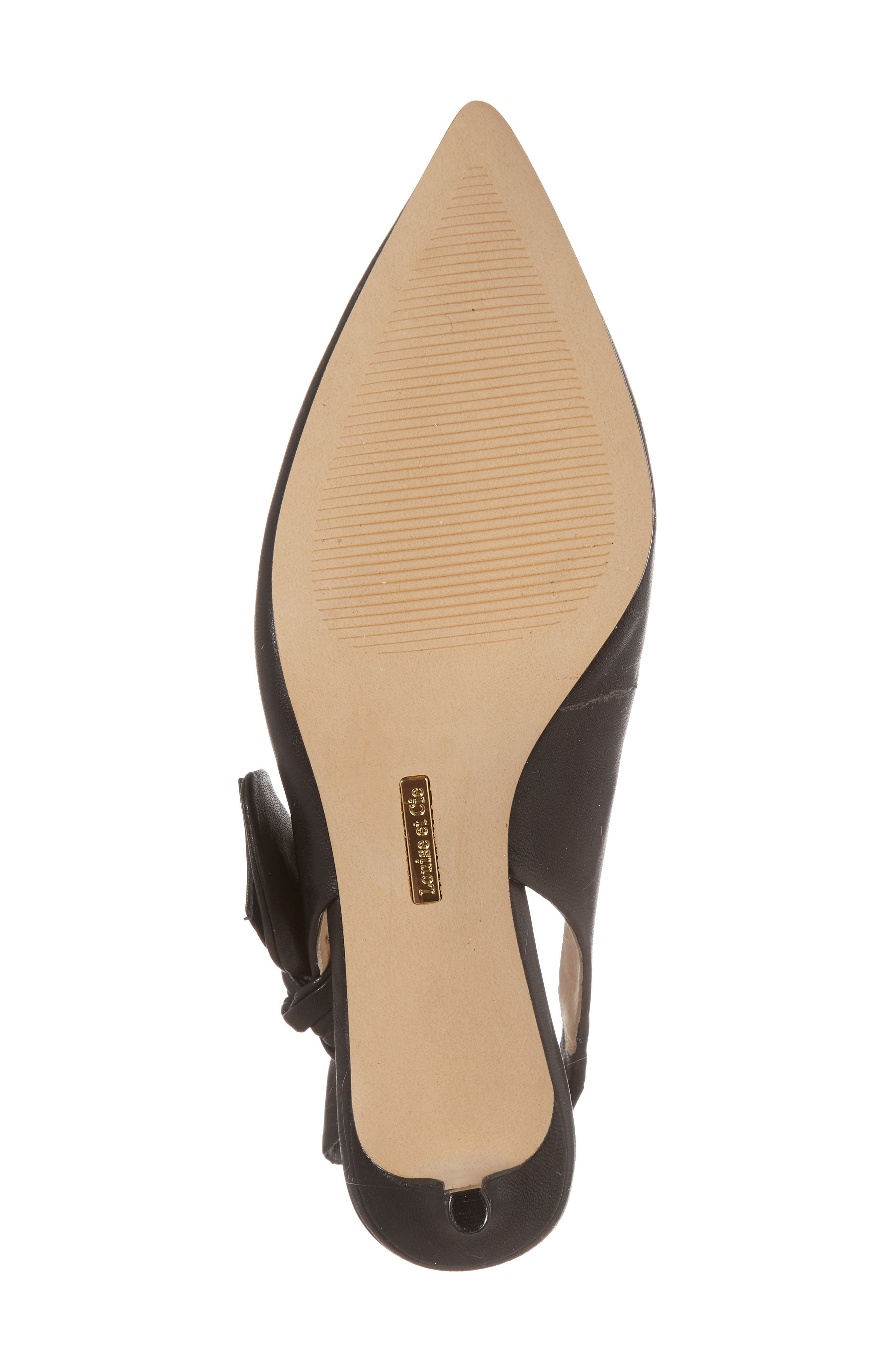 Jasilen Slingback Pump,                             Alternate thumbnail 6, color,                             BLACK LEATHER