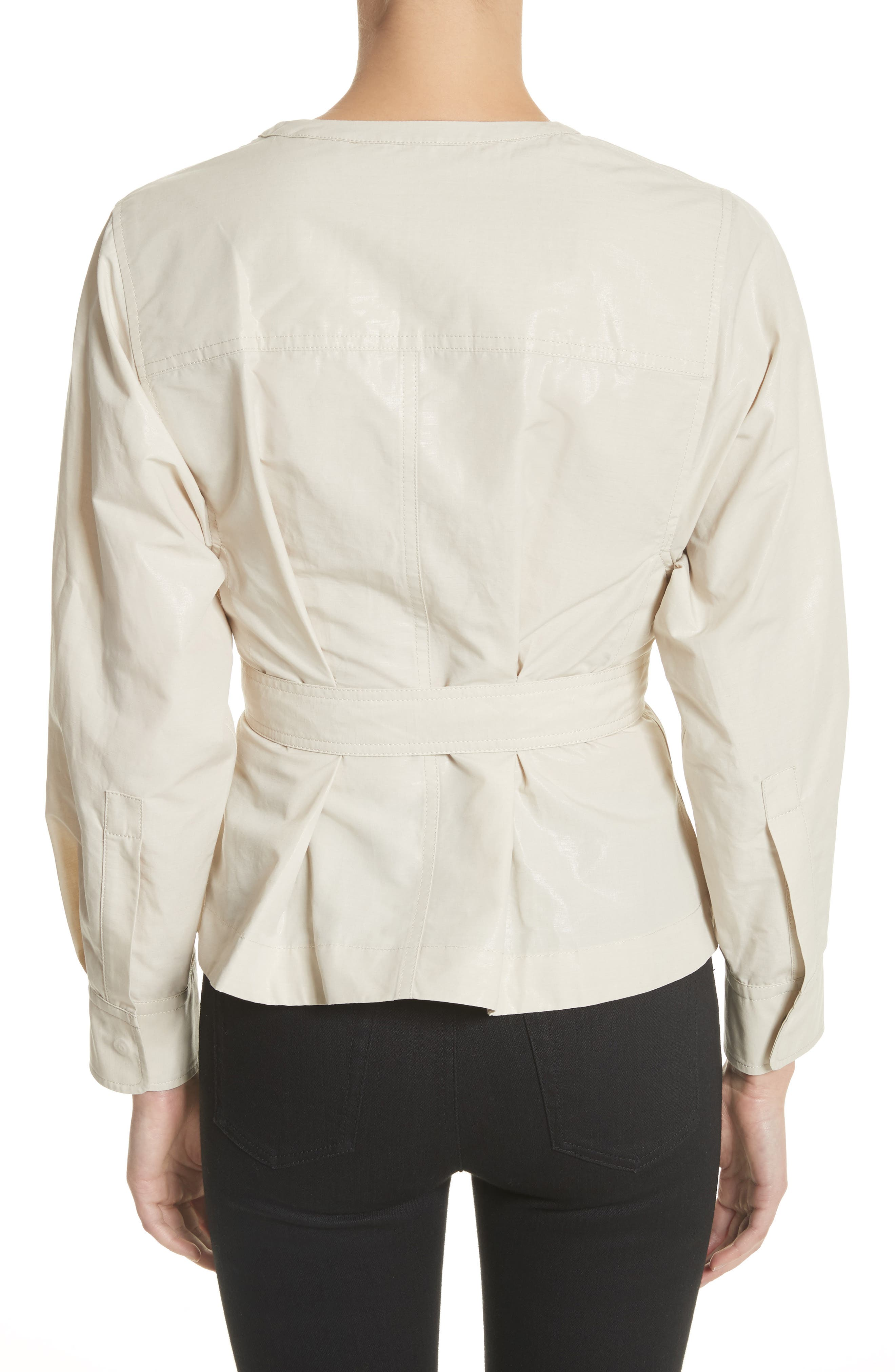 Hacene Cotton & Linen Crop Jacket,                             Alternate thumbnail 2, color,                             250