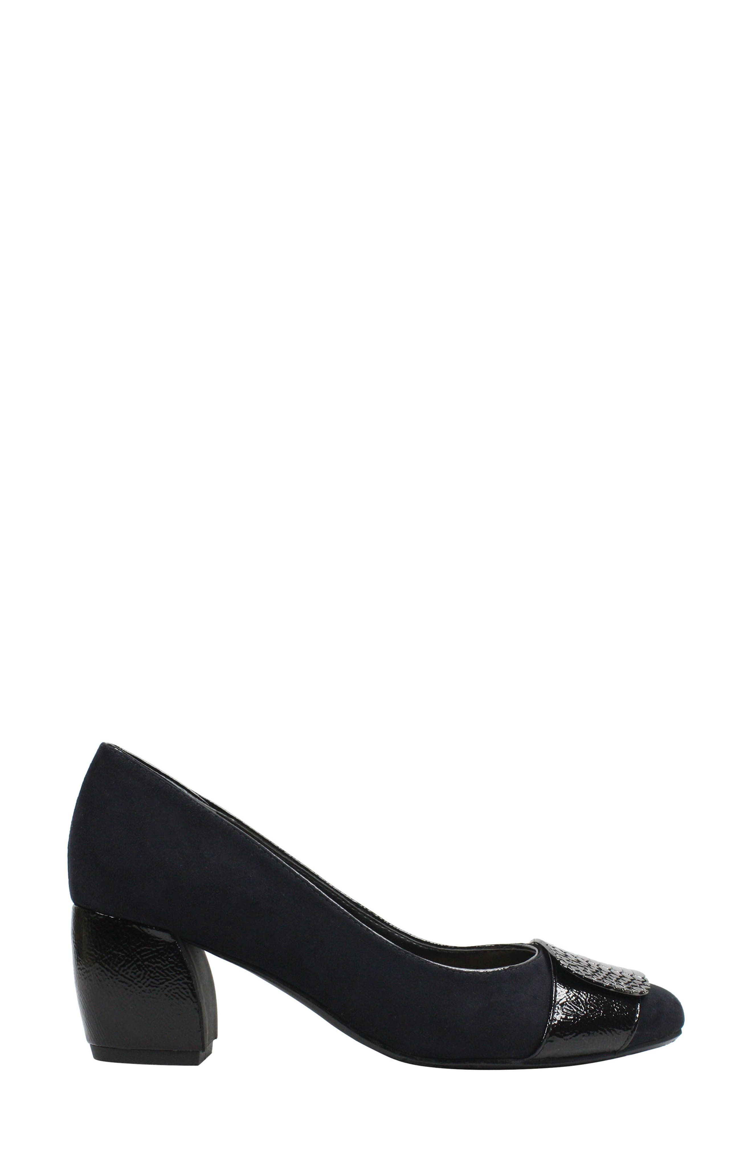 Langeley Pump,                             Alternate thumbnail 3, color,                             BLACK FABRIC