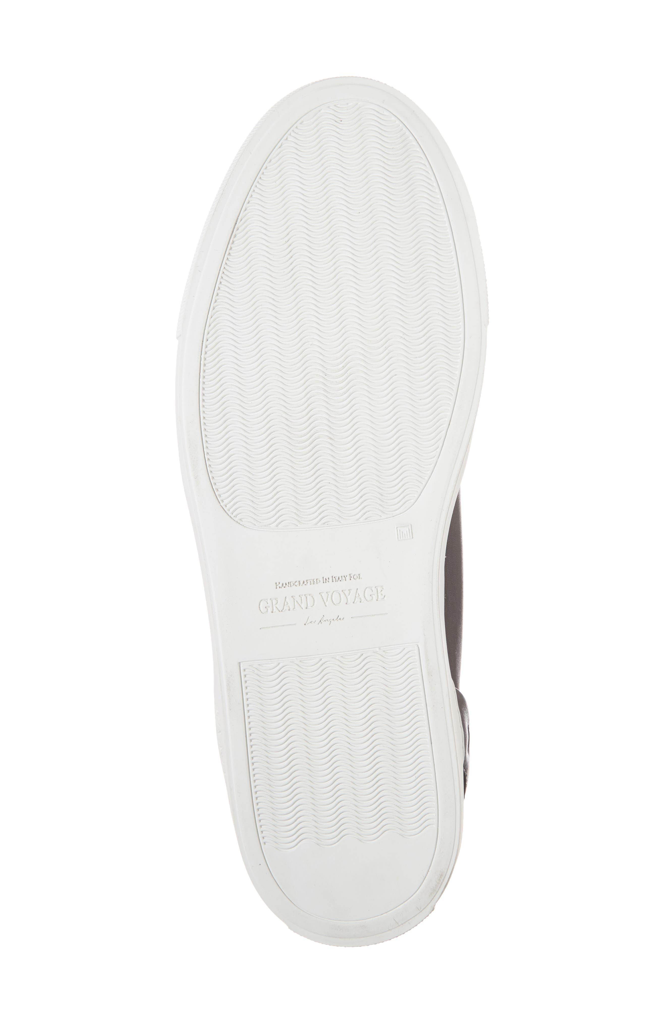 Avedon Sneaker,                             Alternate thumbnail 6, color,                             BLACK LEATHER