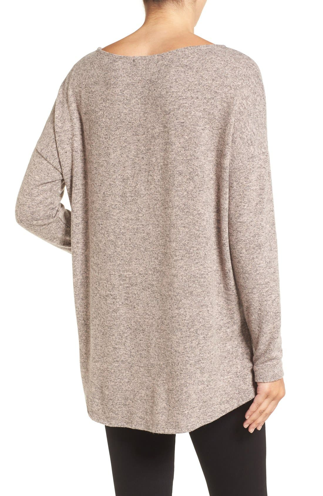 Cozy Ballet Neck High/Low Pullover,                             Alternate thumbnail 34, color,
