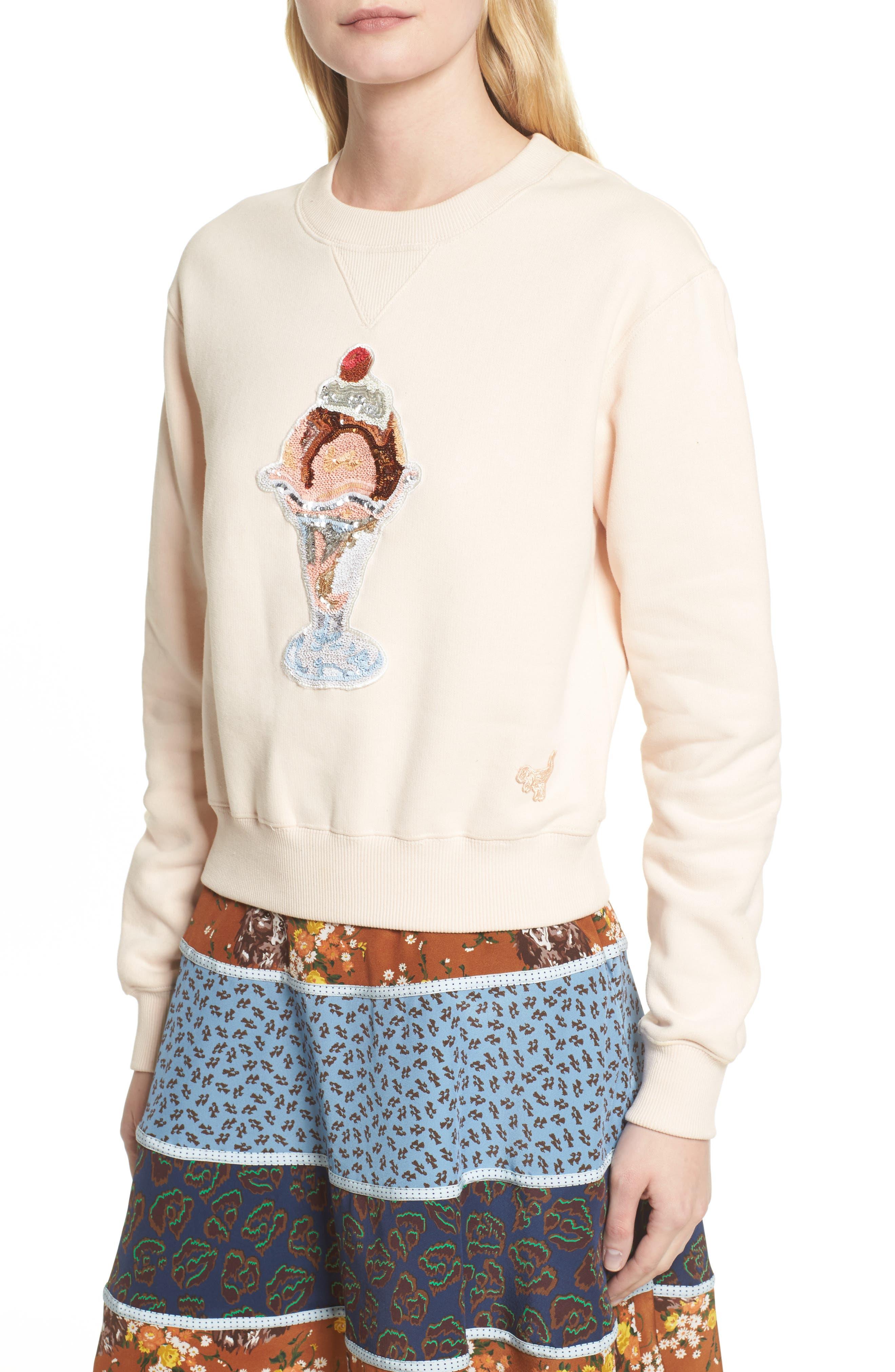 Sequin Sundae Sweatshirt,                             Alternate thumbnail 4, color,                             683