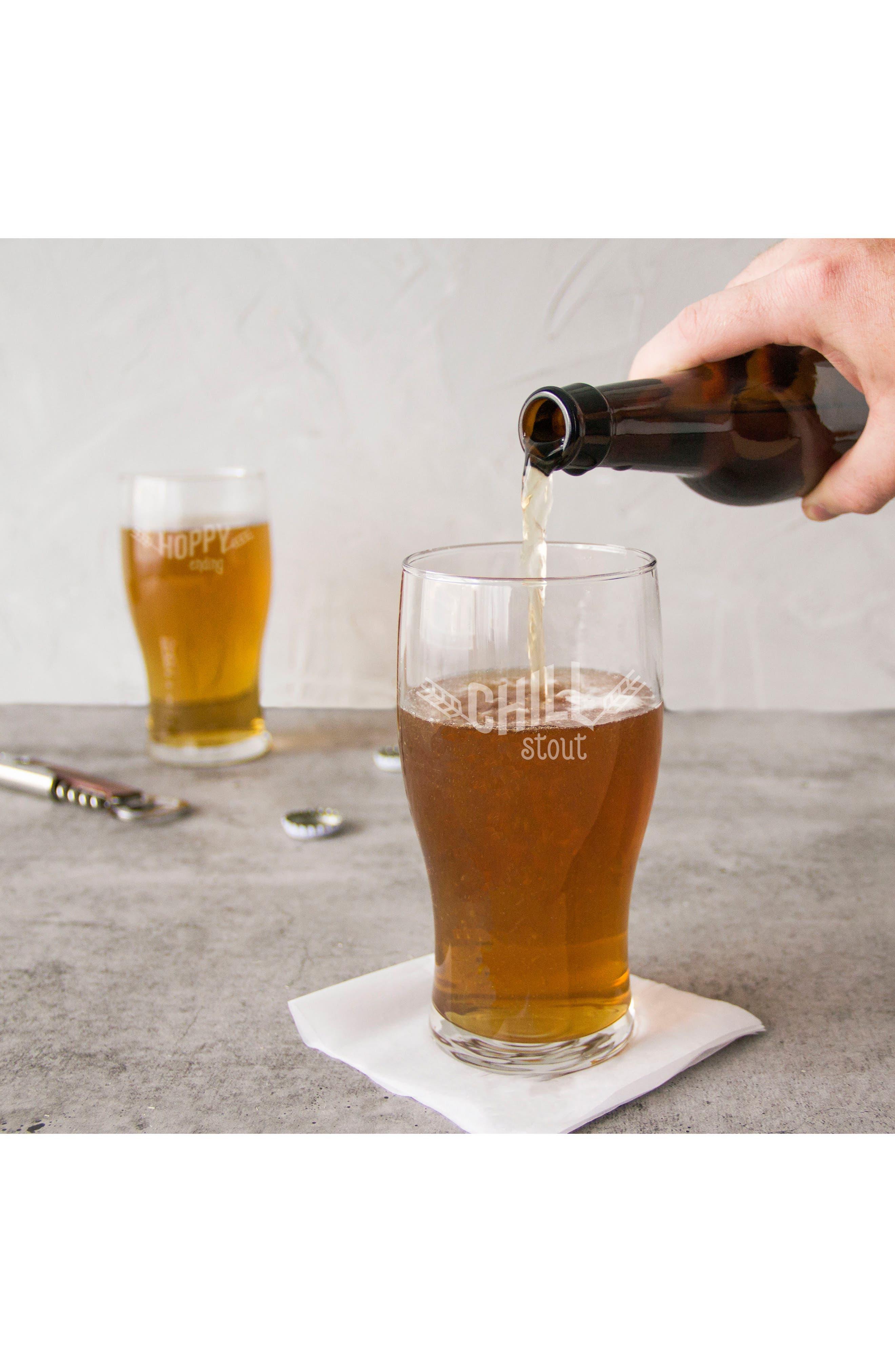 Beer Pun Set of 4 Pilsner Glasses,                             Alternate thumbnail 8, color,                             100