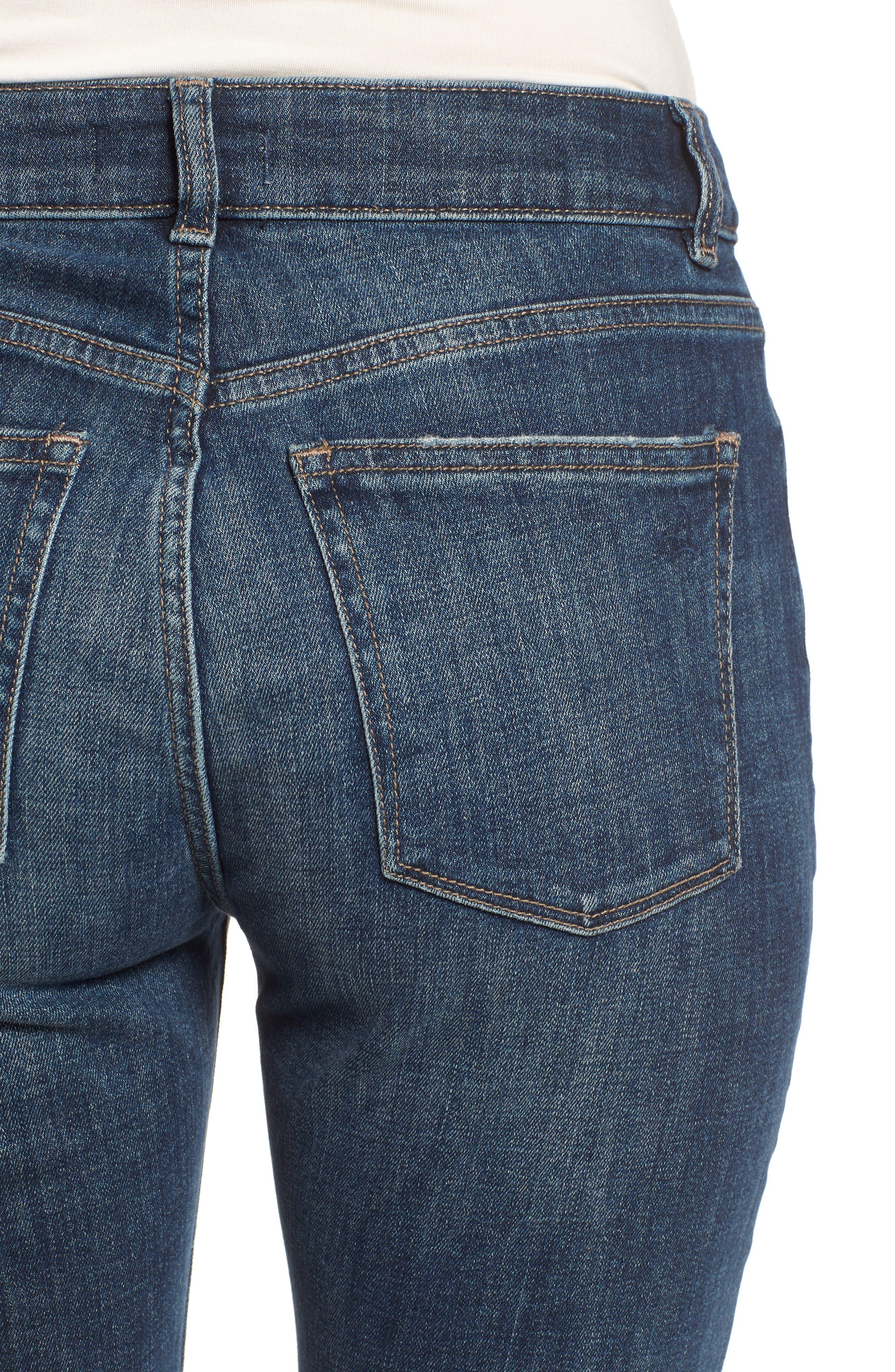 Stevie Ripped Crop Slim Boyfriend Jeans,                             Alternate thumbnail 4, color,                             HAWLEY