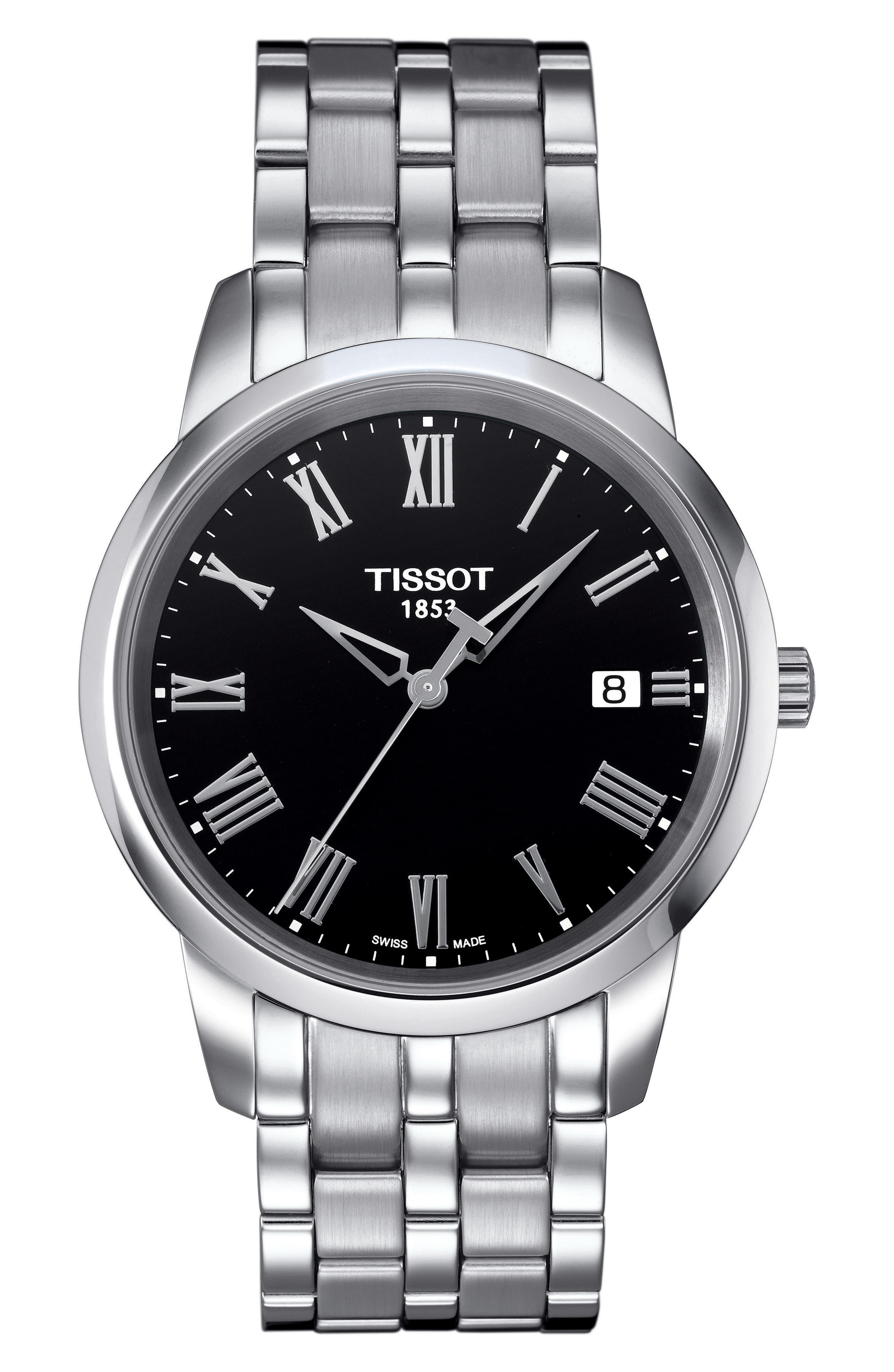 Classic Dream Bracelet Watch, 38mm,                             Main thumbnail 1, color,                             SILVER/ BLACK/ SILVER