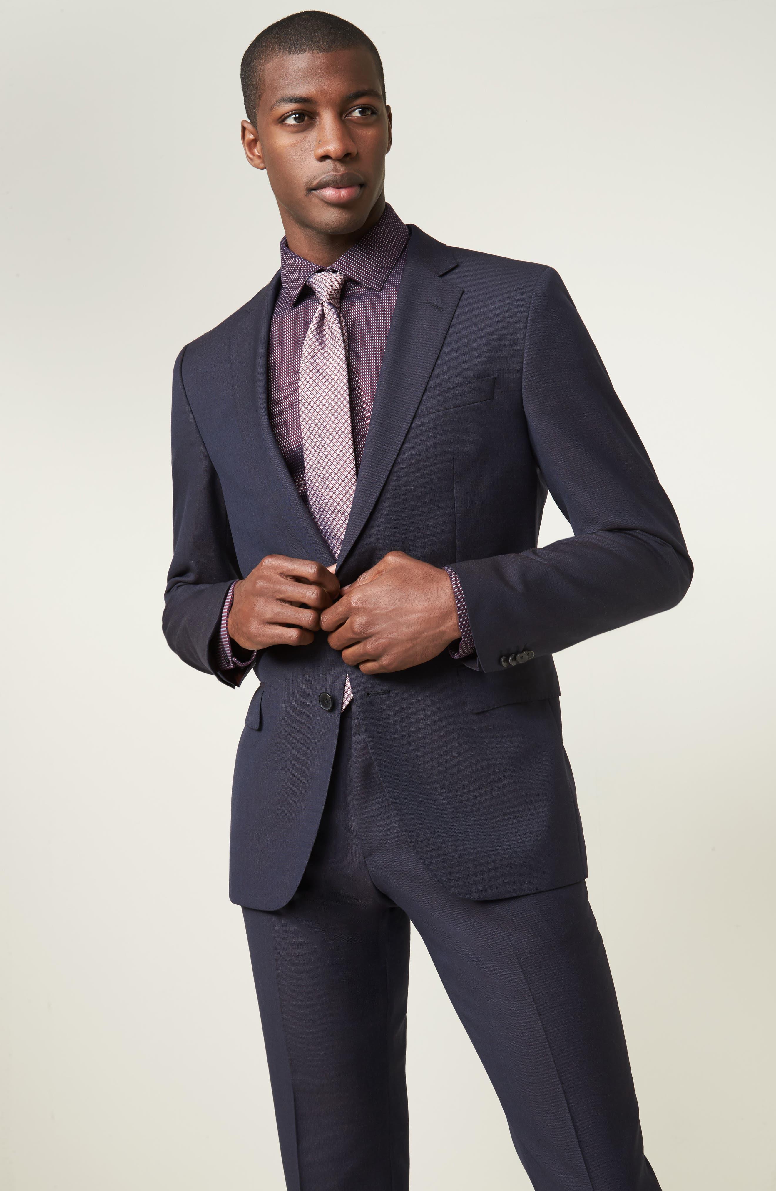 Huge/Genius Trim Fit Wool Suit,                             Alternate thumbnail 9, color,                             606