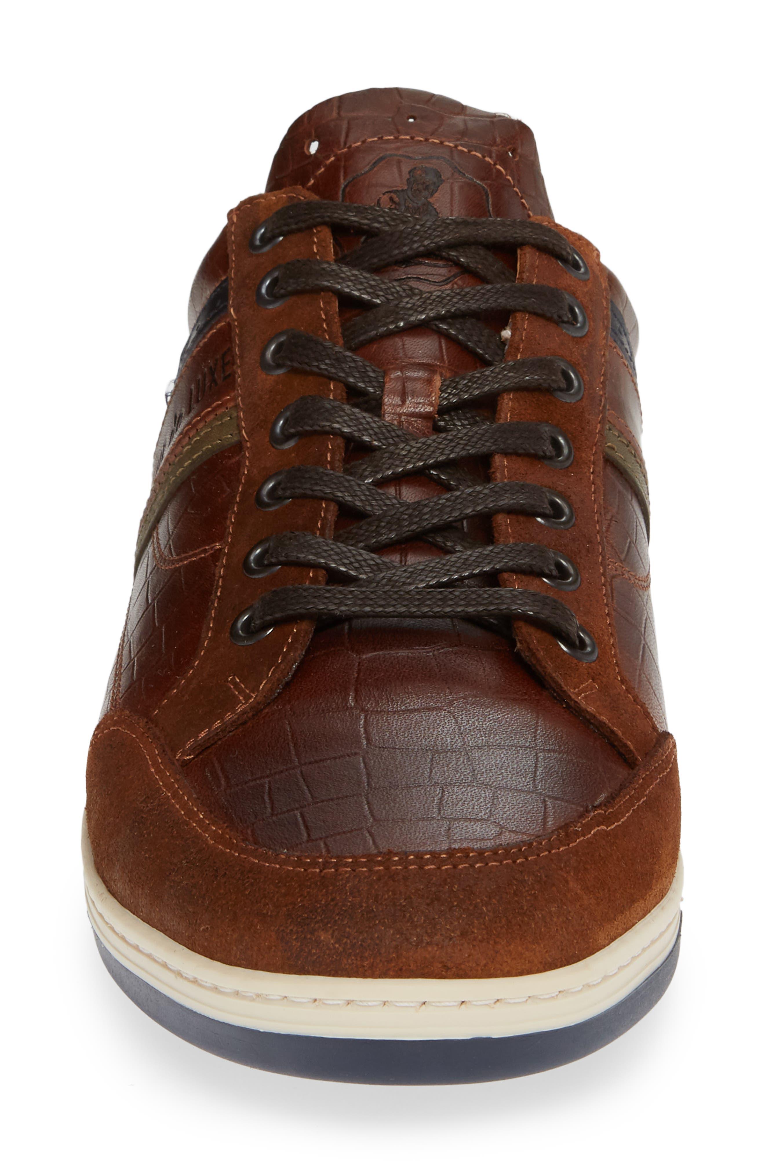 Preston Sneaker,                             Alternate thumbnail 4, color,                             COGNAC