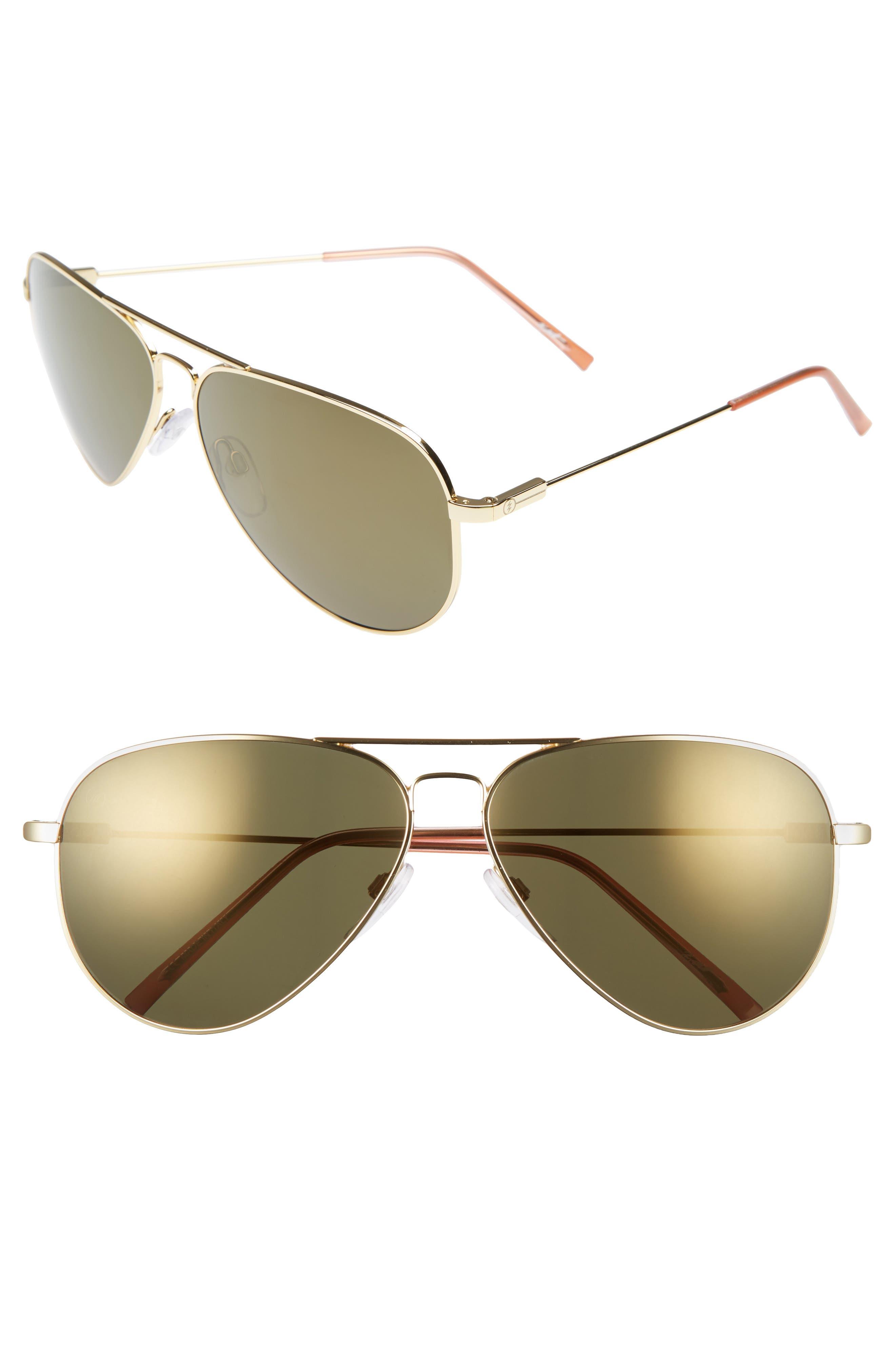 'AV1 XL' 62mm Aviator Sunglasses,                             Main thumbnail 3, color,