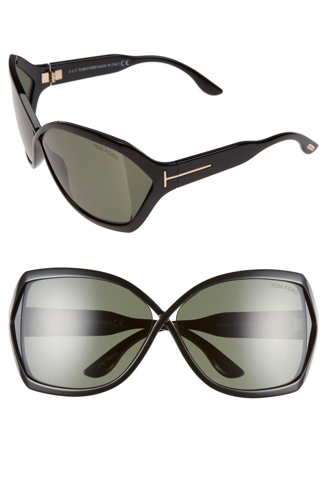 'Julianne' 62mm Sunglasses,                             Main thumbnail 1, color,                             002