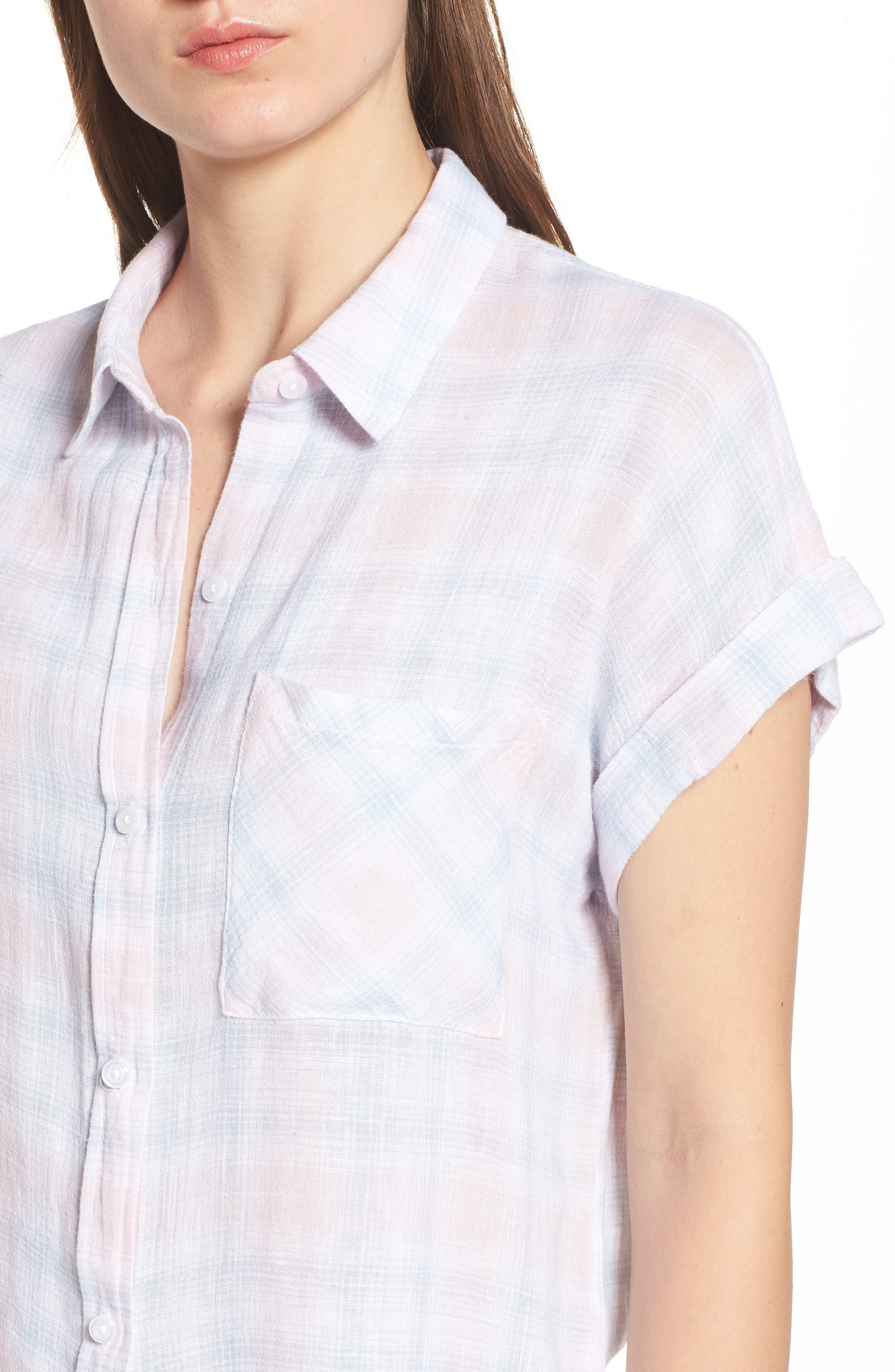 Whitney Shirt,                             Alternate thumbnail 4, color,                             WHITE BLUSH SKY