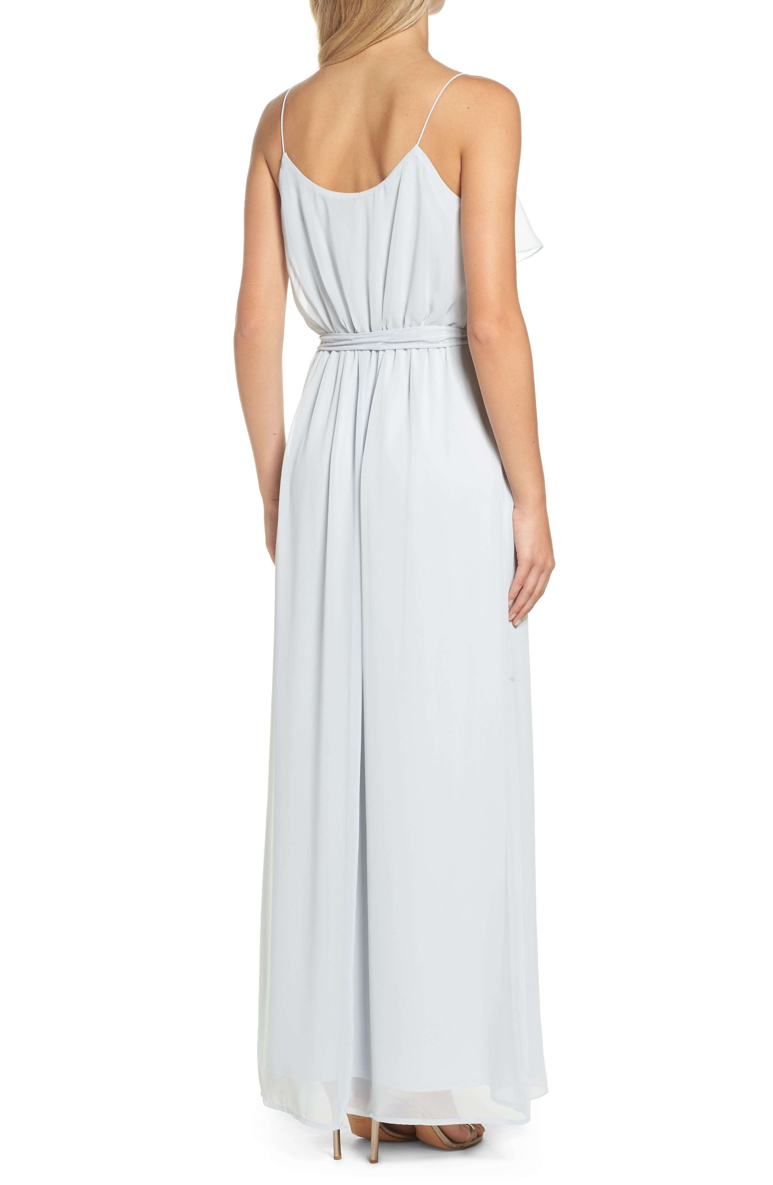 'Drew' Ruffle Front Chiffon Gown,                             Alternate thumbnail 2, color,                             052