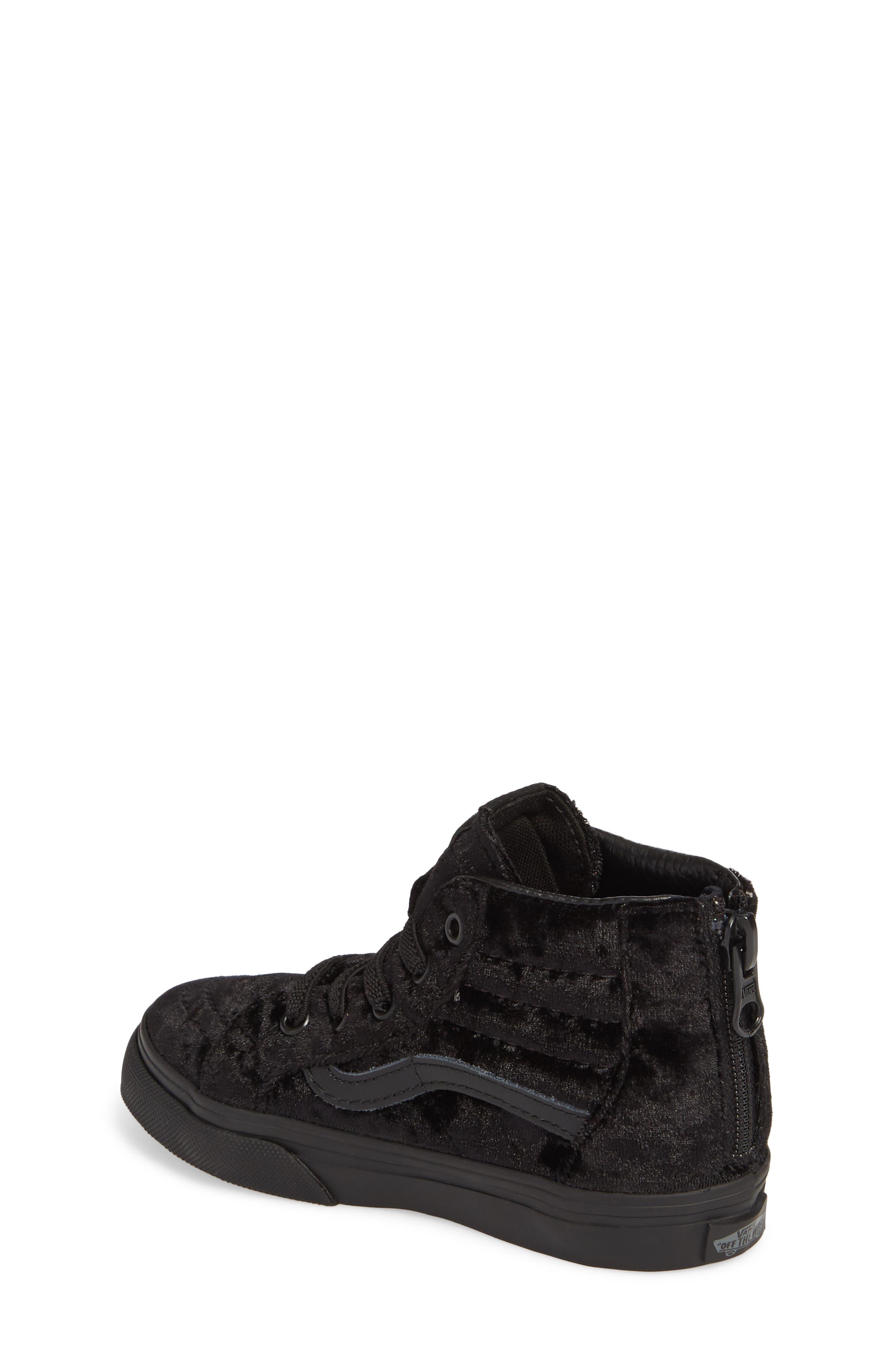 SK8-Hi Zip Sneaker,                             Alternate thumbnail 2, color,                             001