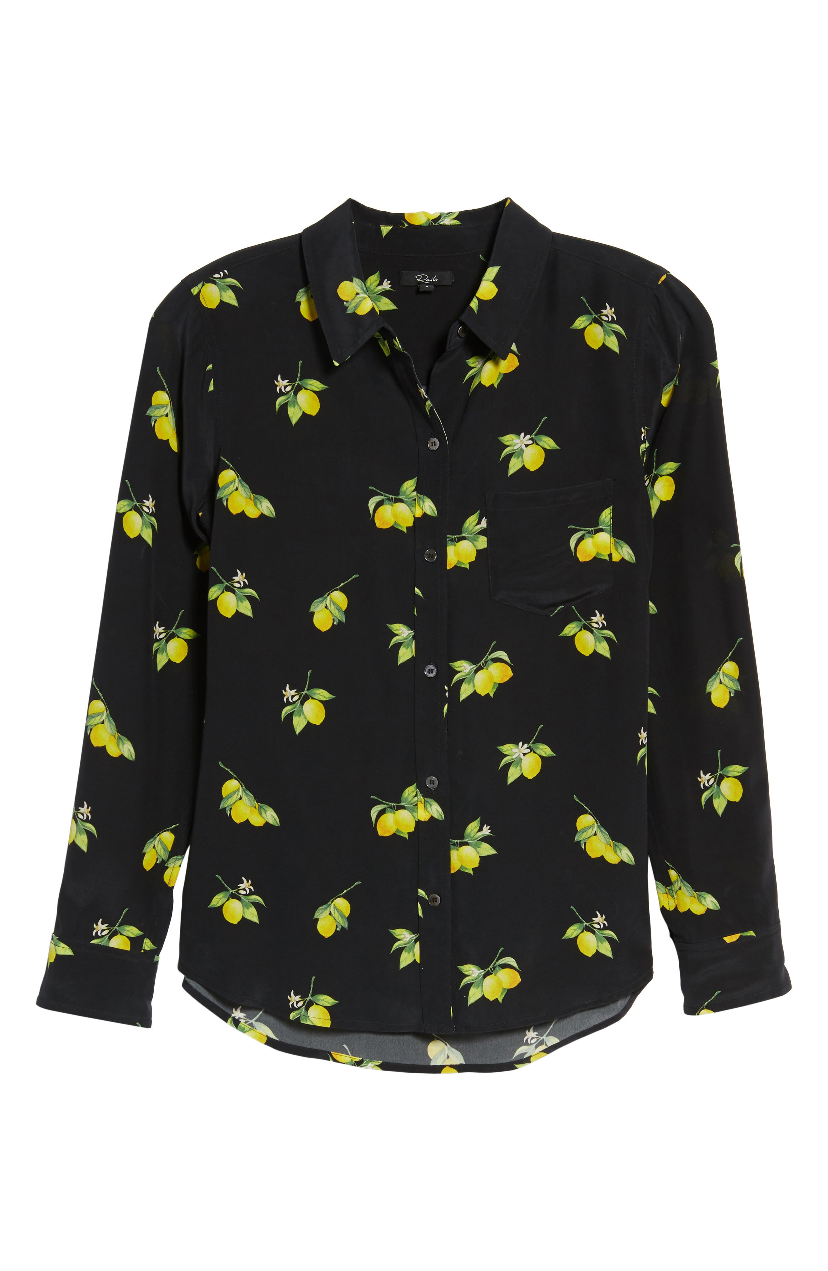 Kate Print Shirt,                             Alternate thumbnail 6, color,                             LEMONS