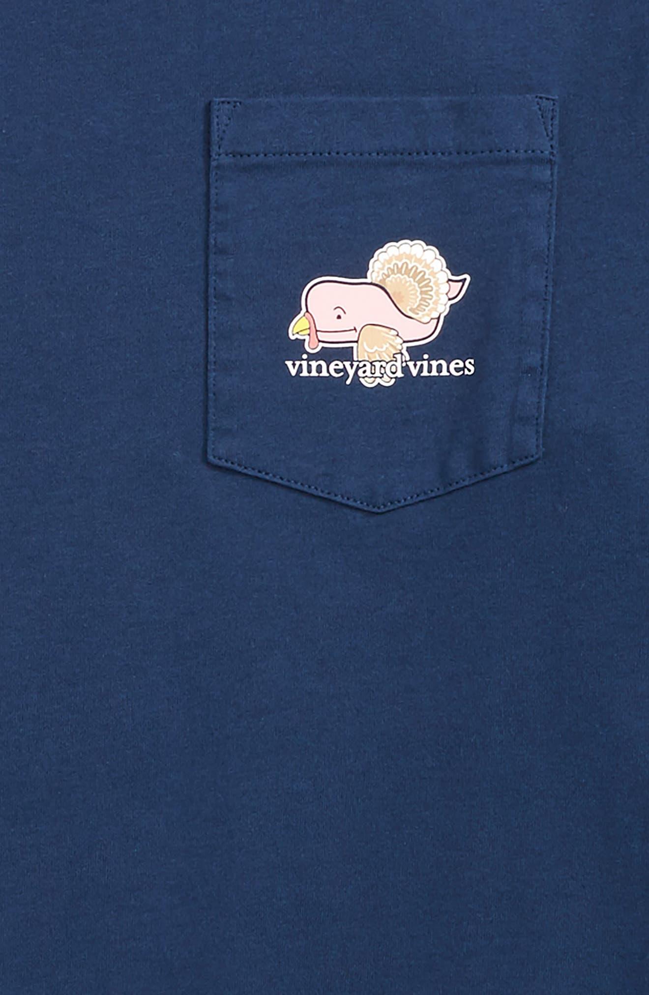 Turkey Whale Pocket T-Shirt,                             Alternate thumbnail 3, color,