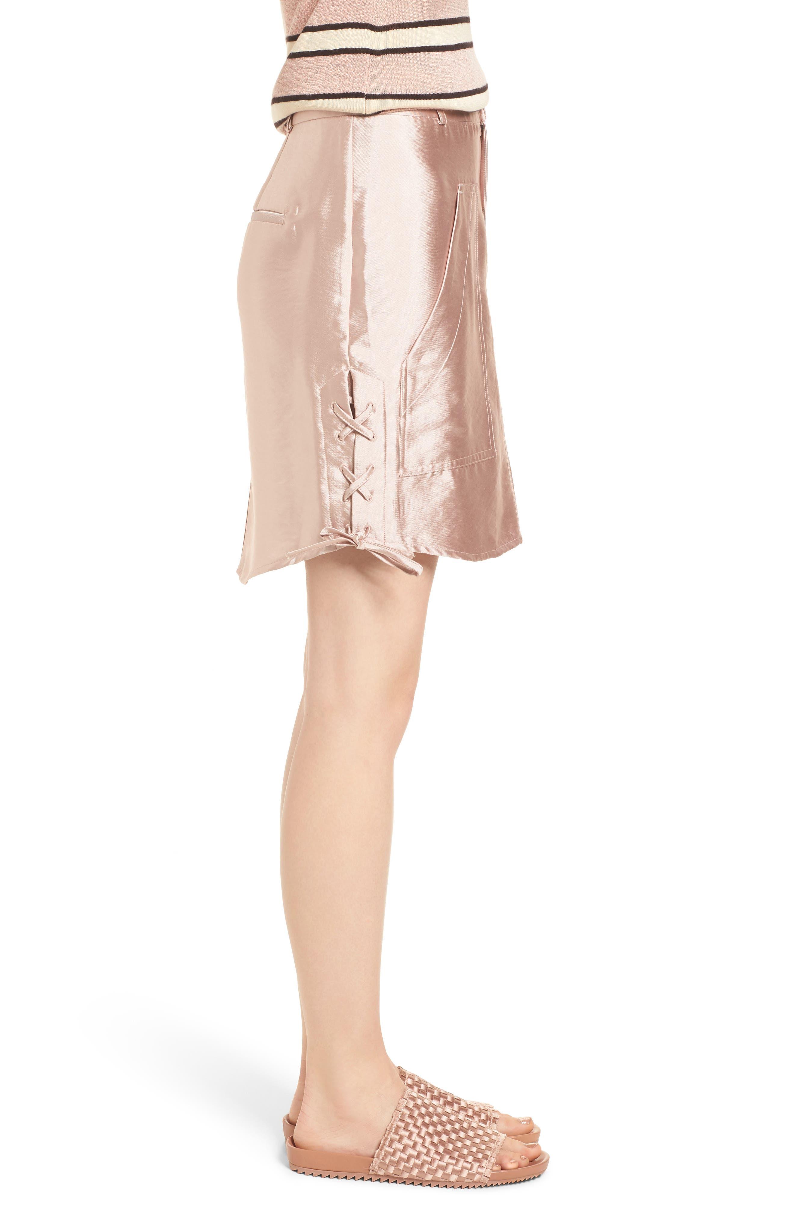 Shiny Safari Skirt,                             Alternate thumbnail 3, color,                             650