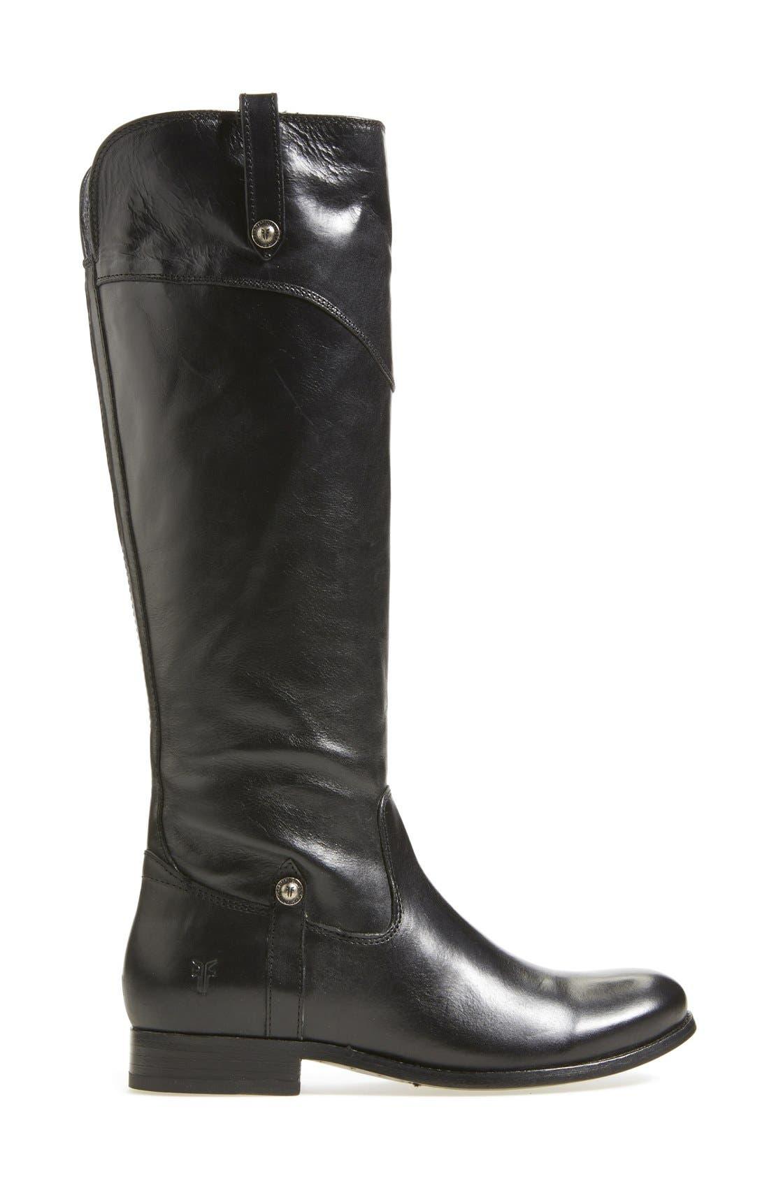 'Melissa Tab' Knee High Boot,                             Alternate thumbnail 3, color,                             001