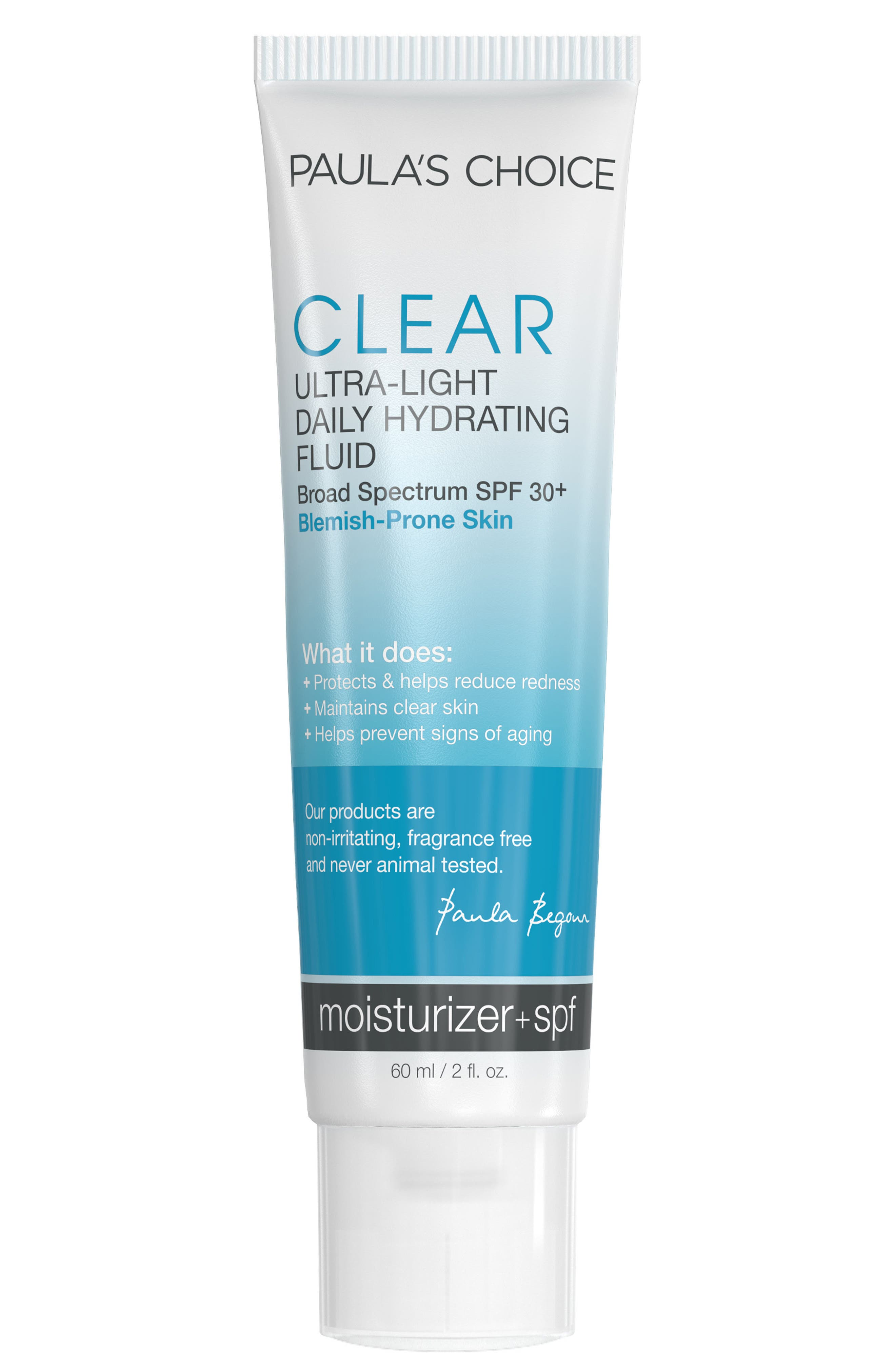 Clear Ultra-Light Daily Mattifying Fluid SPF 30+,                         Main,                         color, NO COLOR