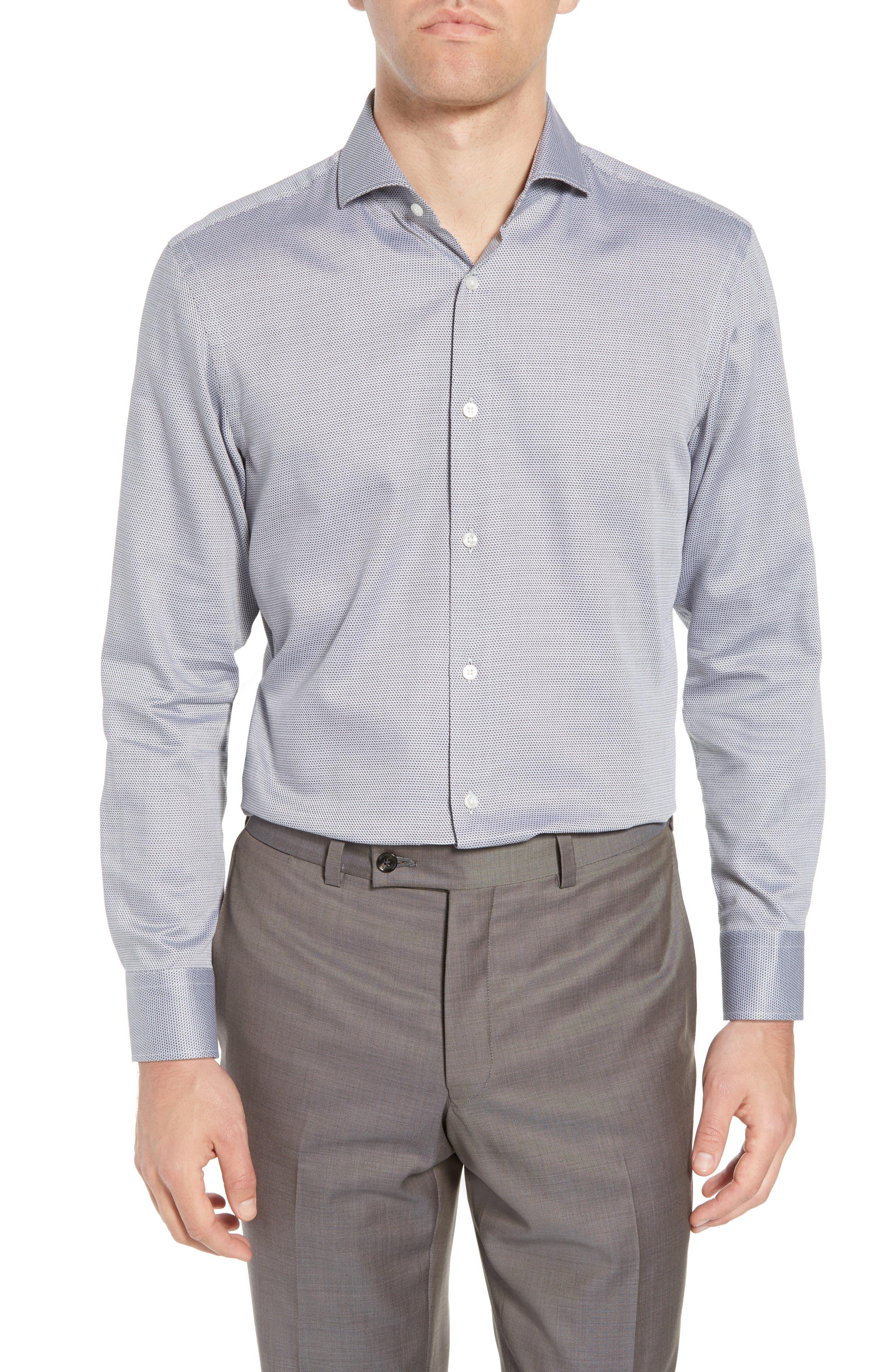 Sharp Fit Dress Shirt,                             Main thumbnail 1, color,                             GREY