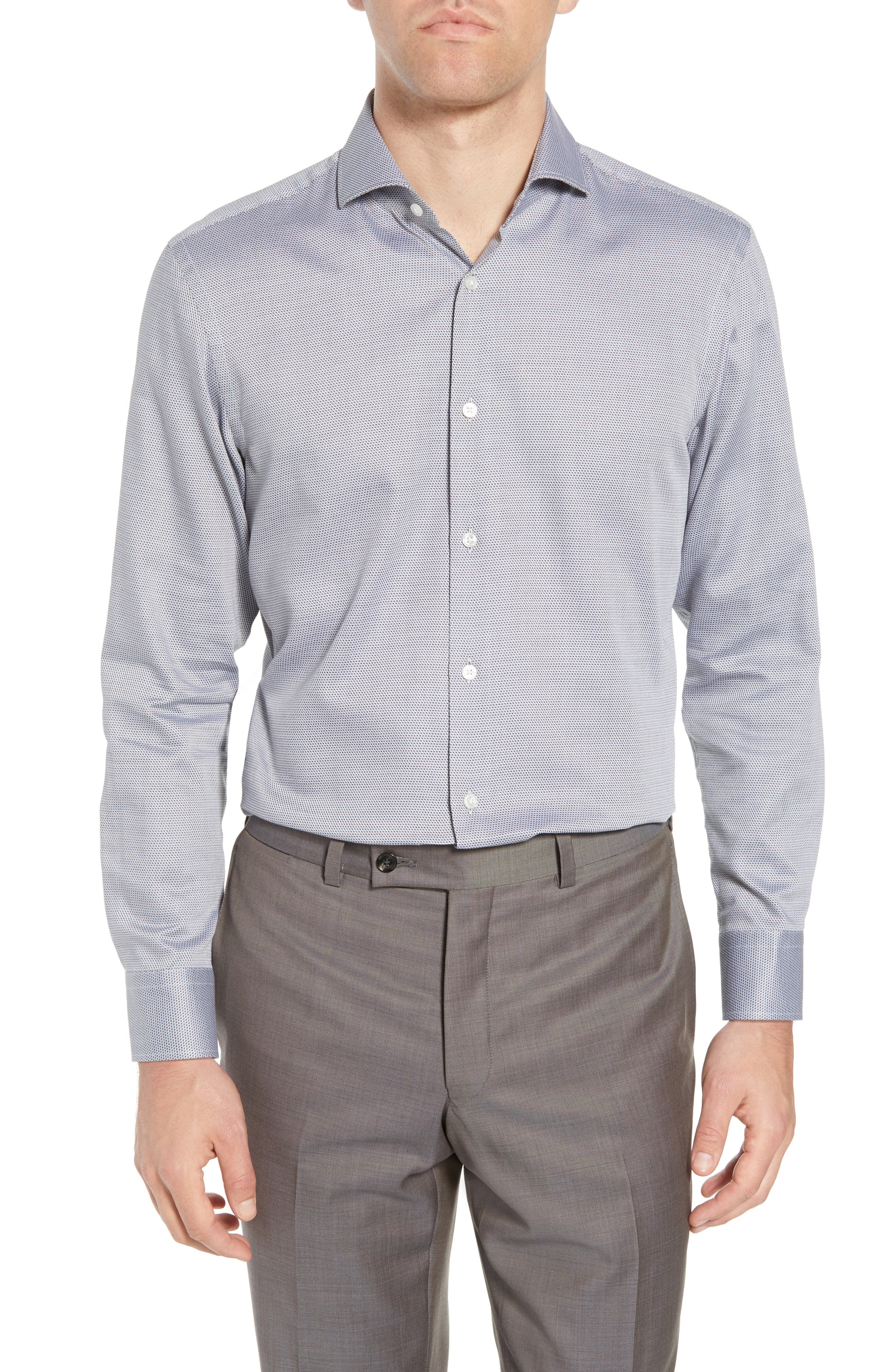 Sharp Fit Dress Shirt,                         Main,                         color, GREY