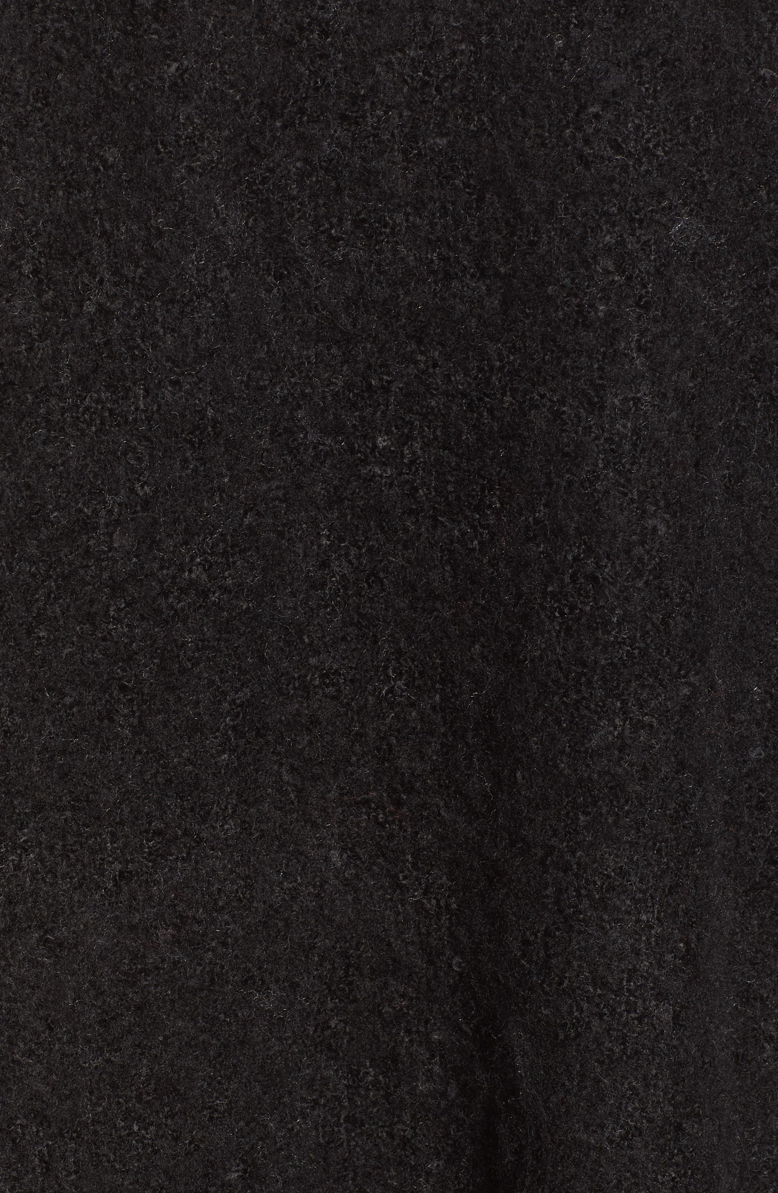 Madison Fringed Wrap,                             Alternate thumbnail 5, color,                             BLACK