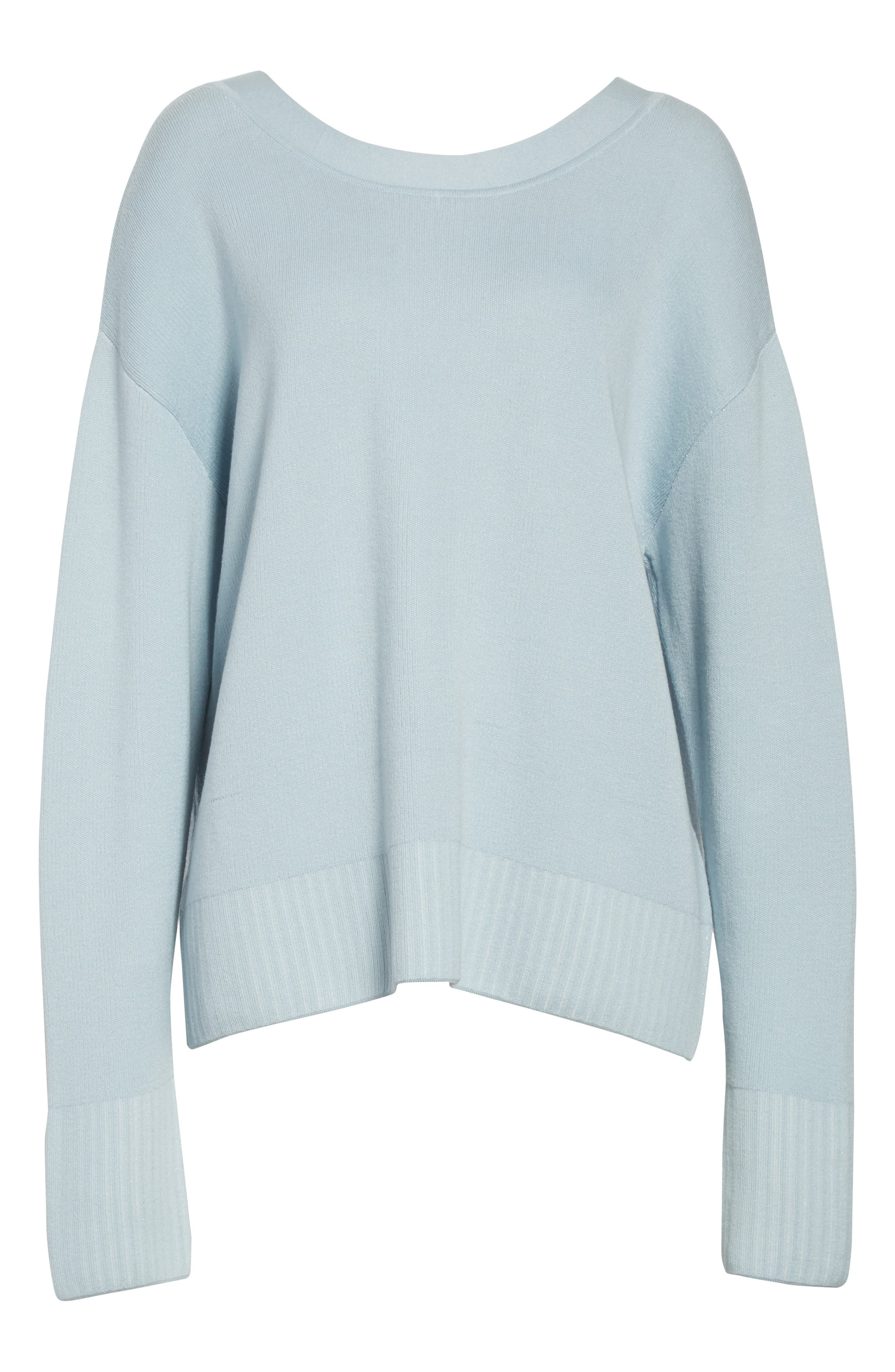 Silk & Cotton Blend Sweater,                             Alternate thumbnail 6, color,                             450