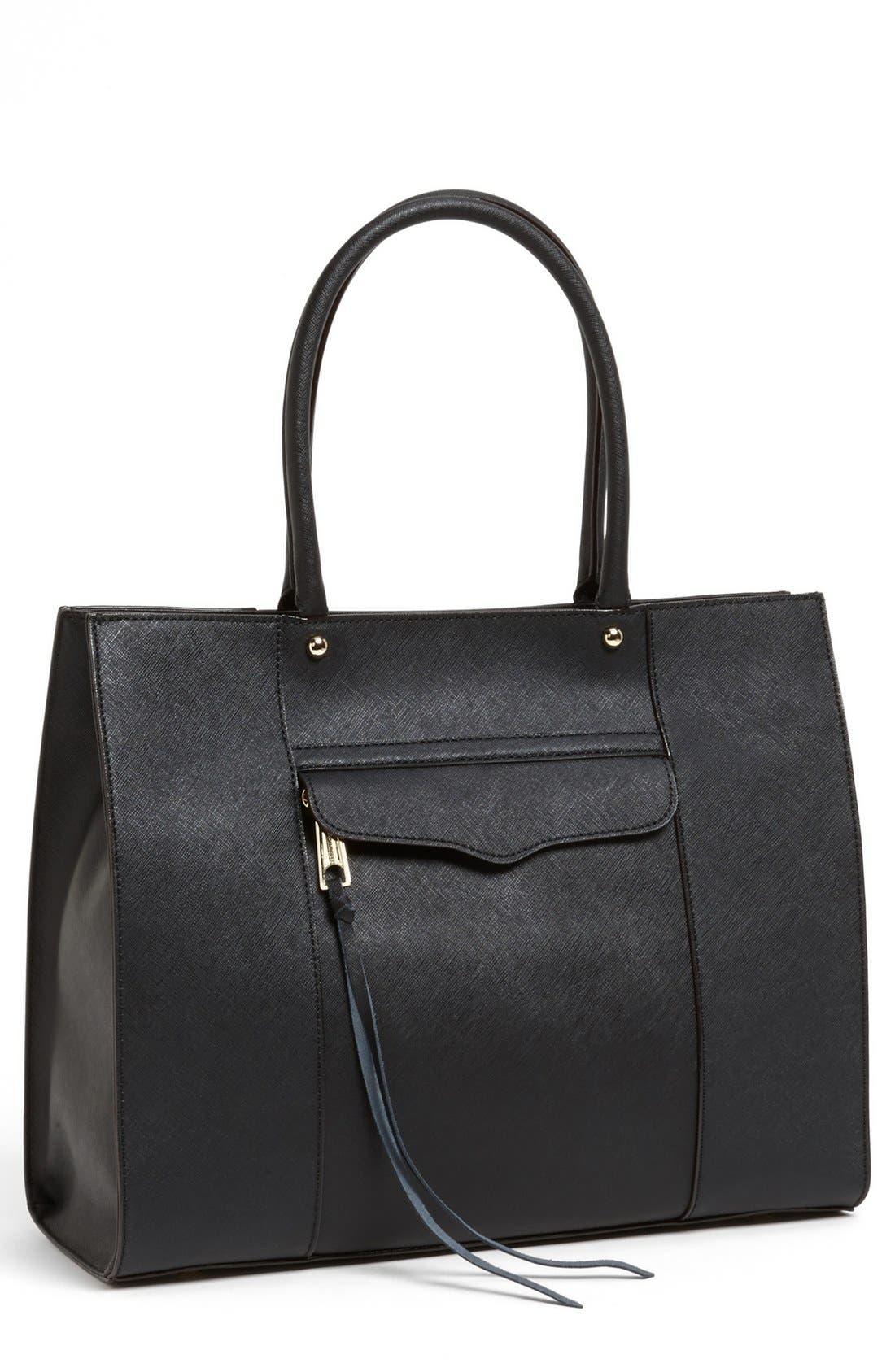 'Medium MAB' Saffiano Leather Tote,                         Main,                         color, 001
