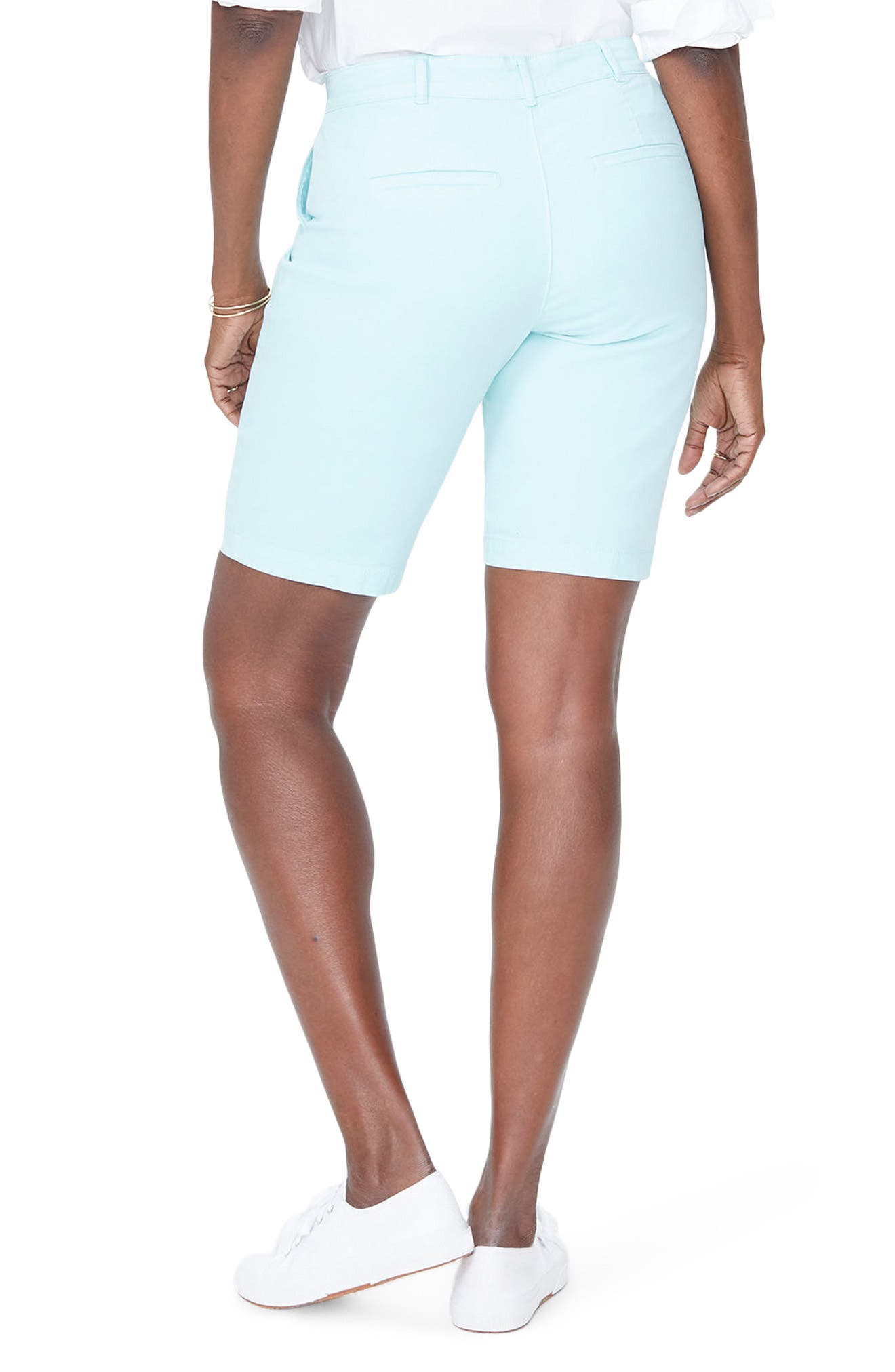 Stretch Twill Bermuda Shorts,                             Alternate thumbnail 2, color,                             PALE CABANA