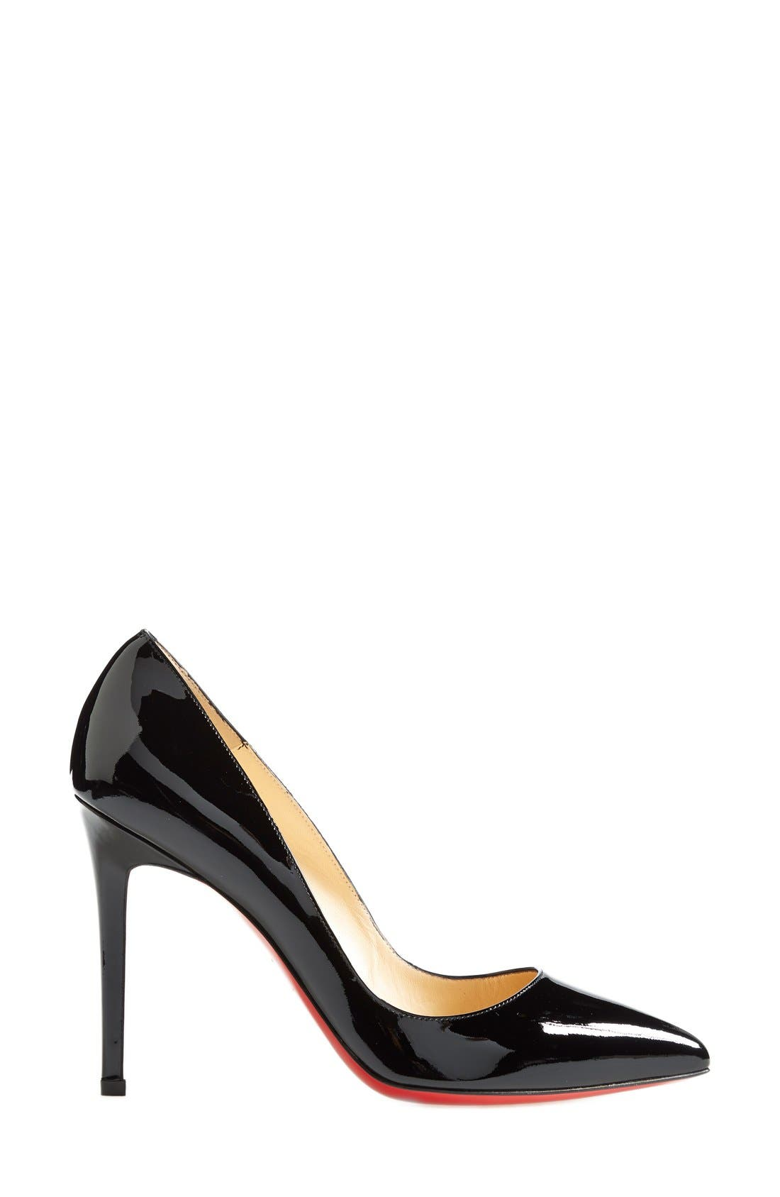 'Pigalle' Pointy Toe Pump,                             Alternate thumbnail 2, color,                             BLACK