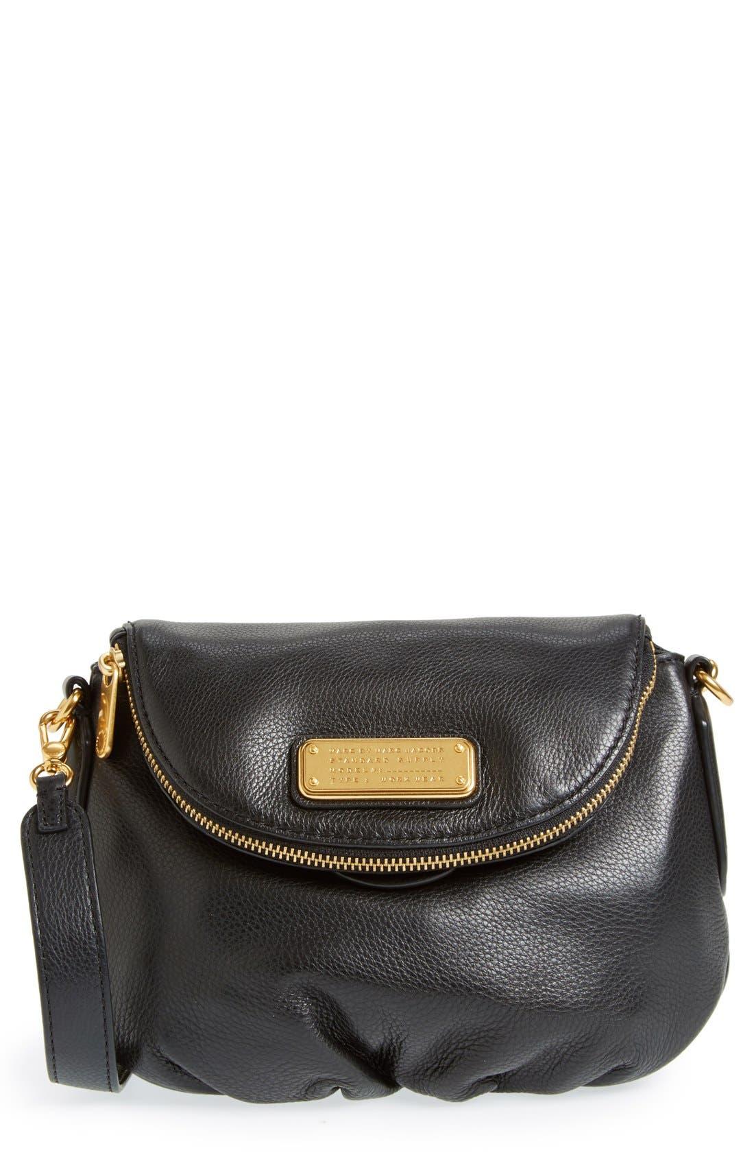 MARC BY MARC JACOBS 'New Q - Mini Natasha' Crossbody Bag,                         Main,                         color, 001