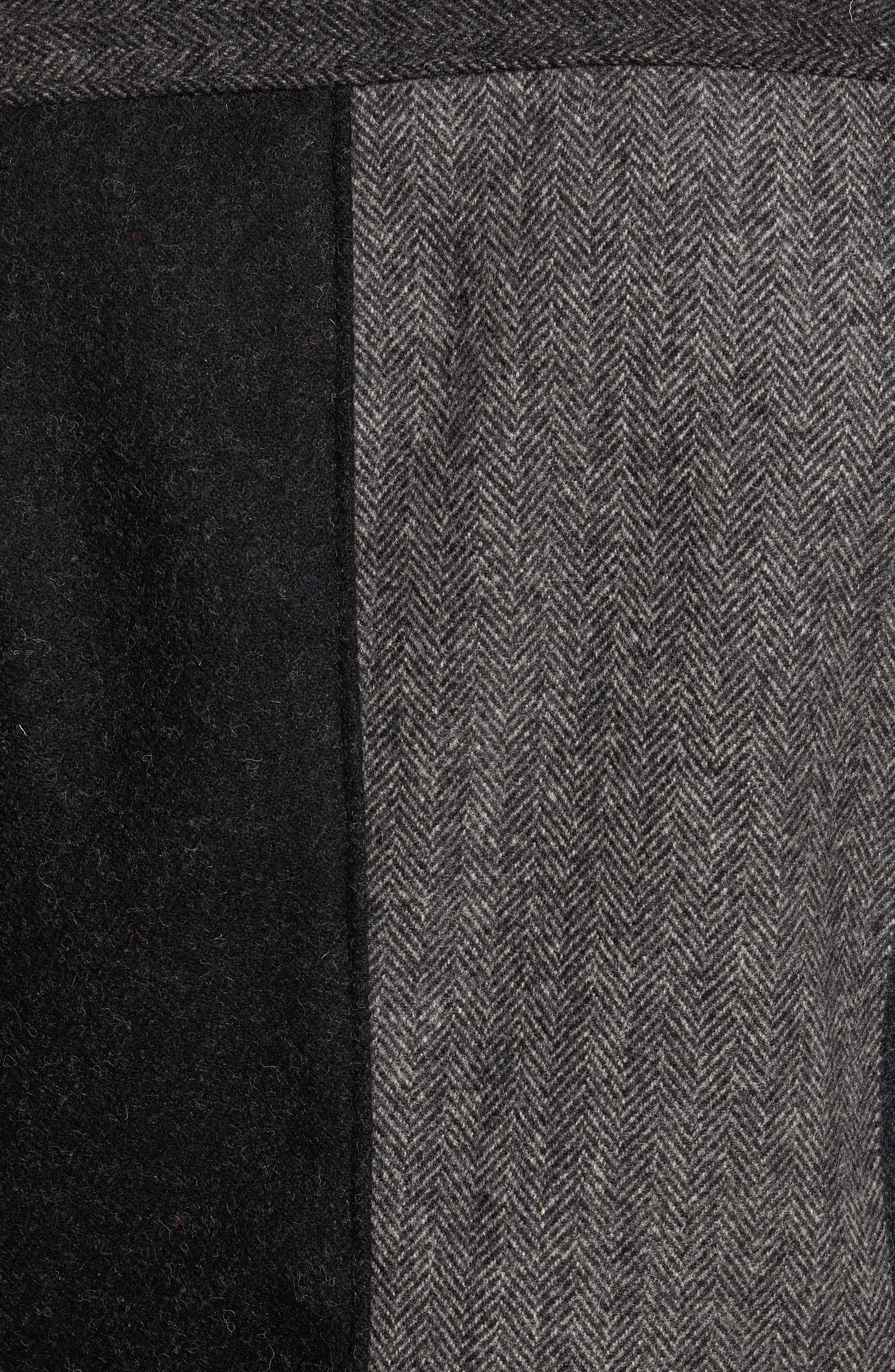 Perfecto Patchwork Café Jacket,                             Alternate thumbnail 6, color,