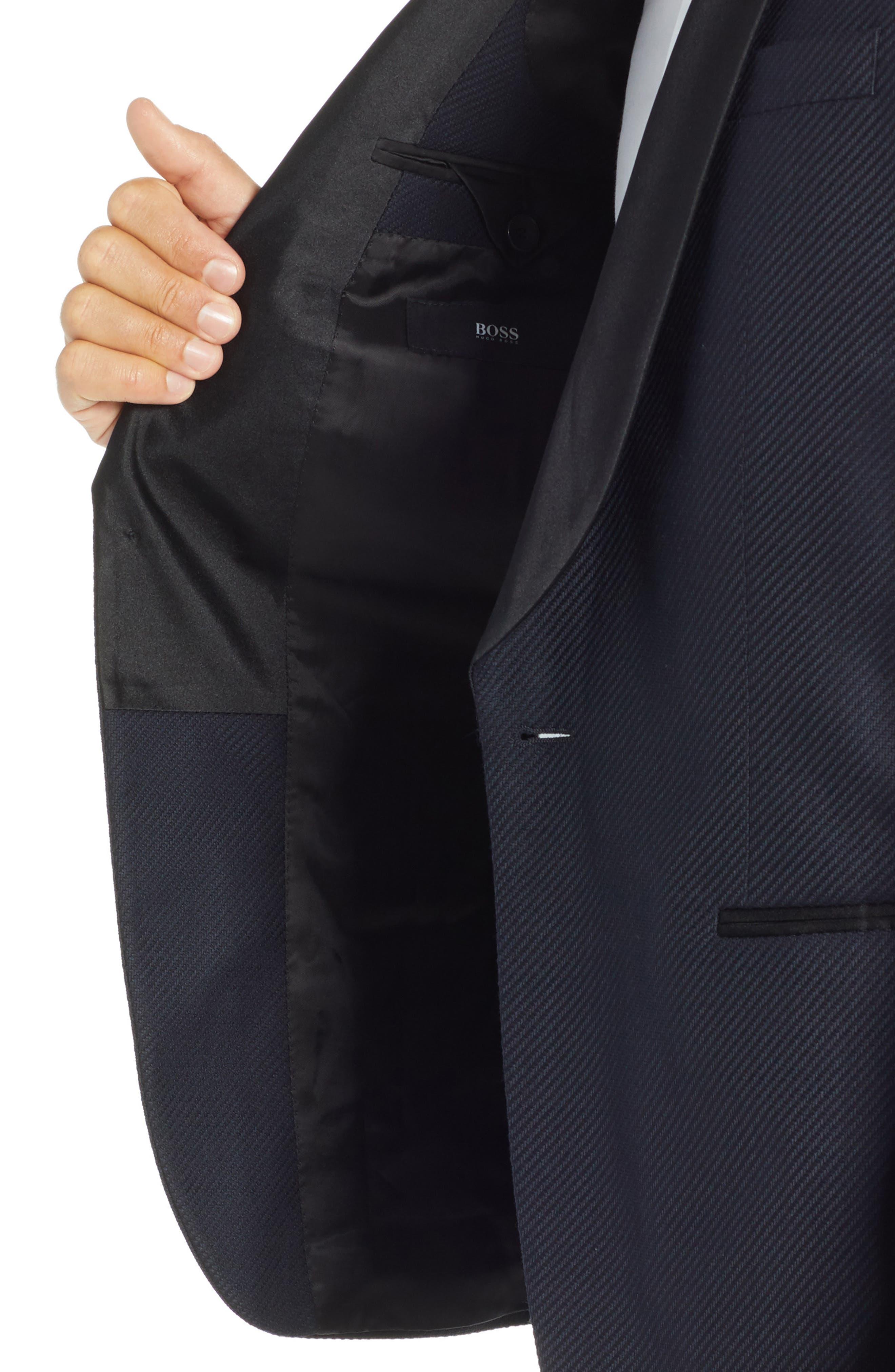 Hockley Slim Fit Wool Dinner Jacket,                             Alternate thumbnail 4, color,                             OPEN BLUE