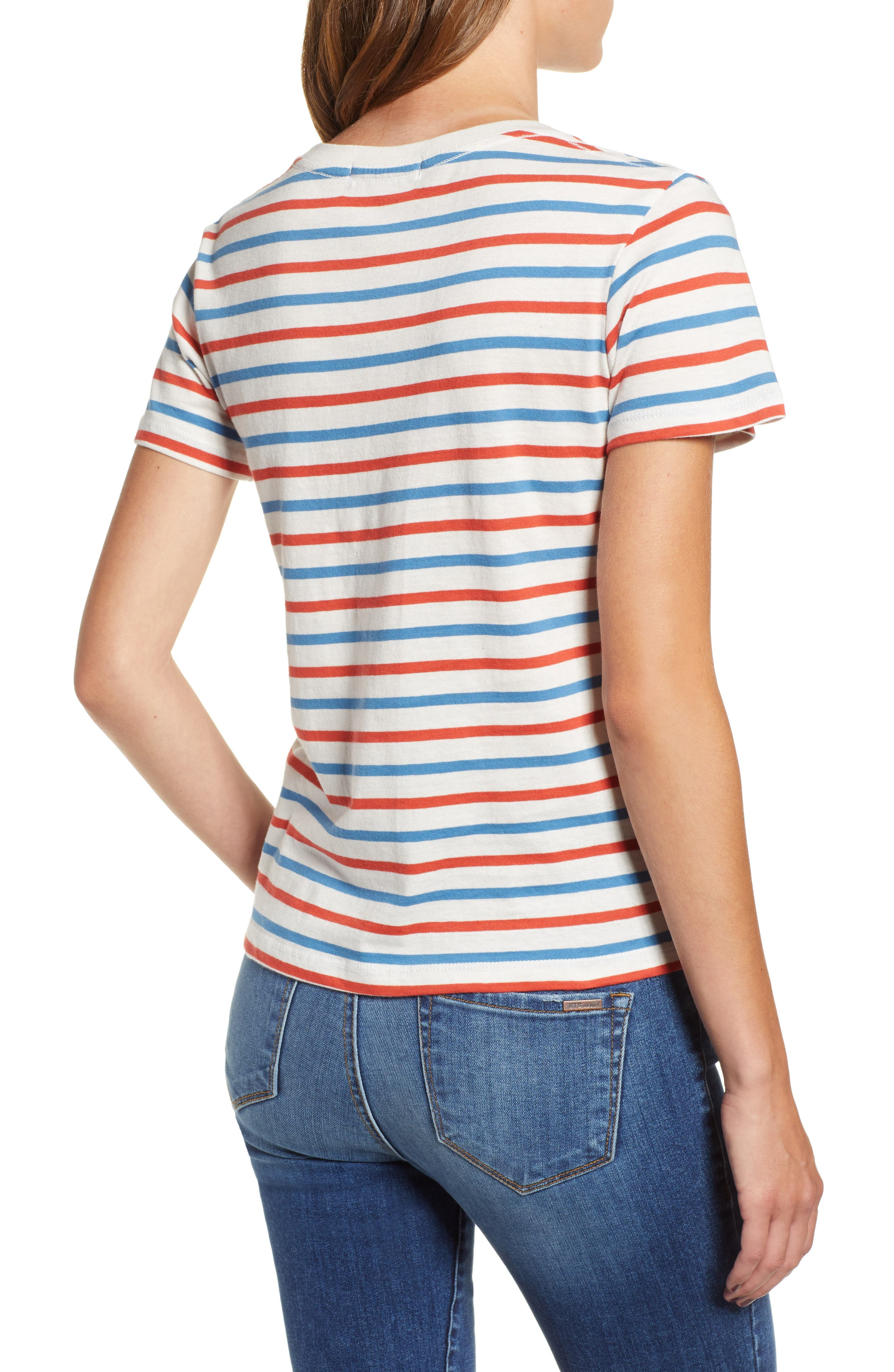 Vanessa Heart Embroidered Vincent Stripe Tee,                             Alternate thumbnail 2, color,                             CHERRY/ WINDSOR/ WHITE